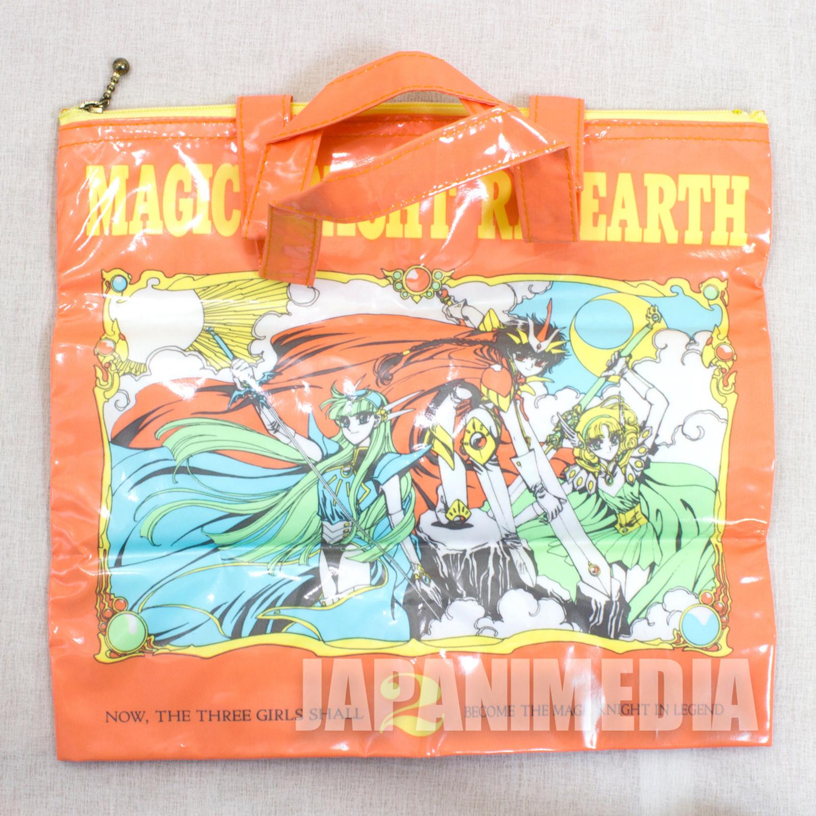 Magic Knight Rayearth Orange Vinyl Bag CLAMP Nakayoshi JAPAN ANIME