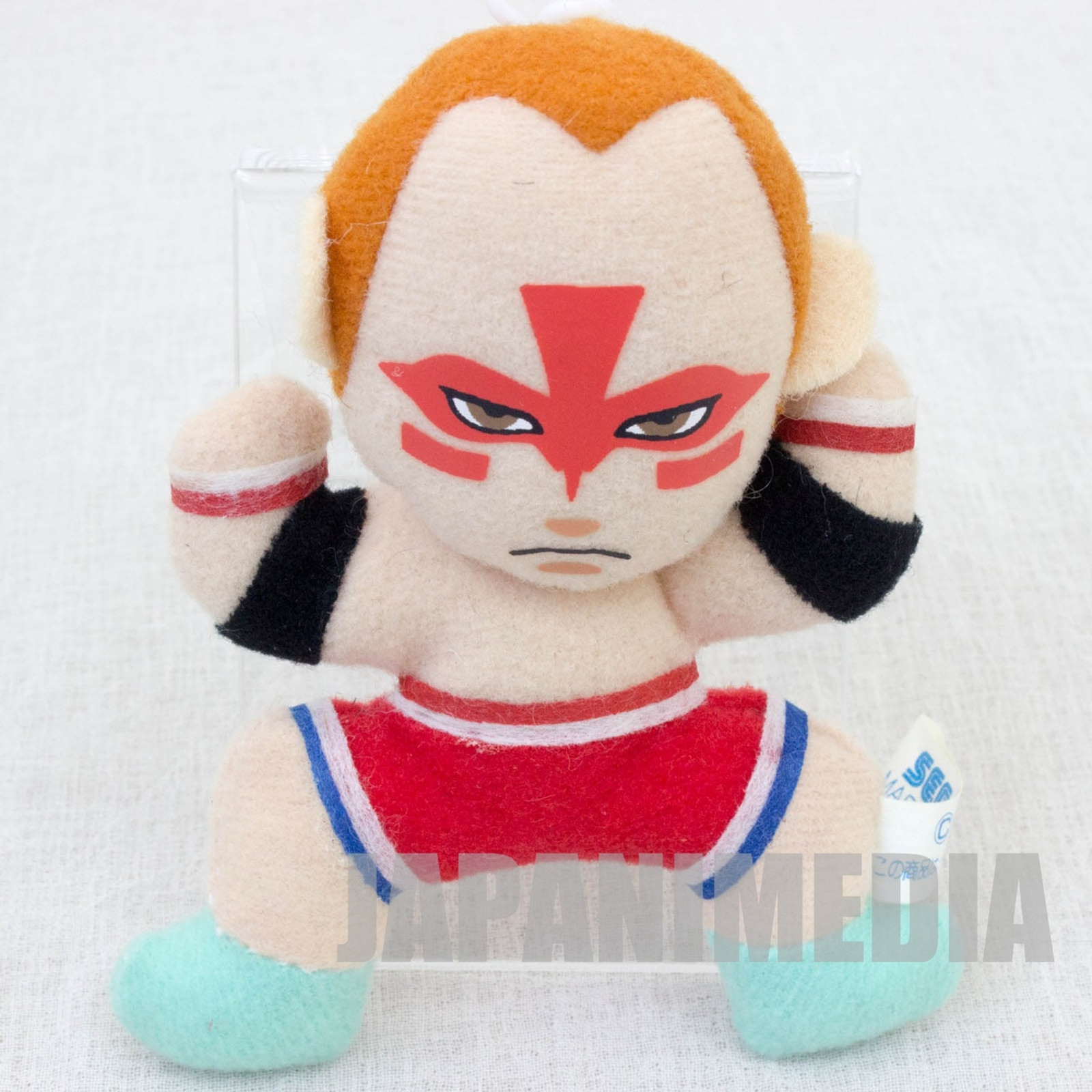 "Virtua Fighter 2 Wolf Hawkfield 3.5"" Mini Plush Doll SEGA 1995 JAPAN GAME 2"