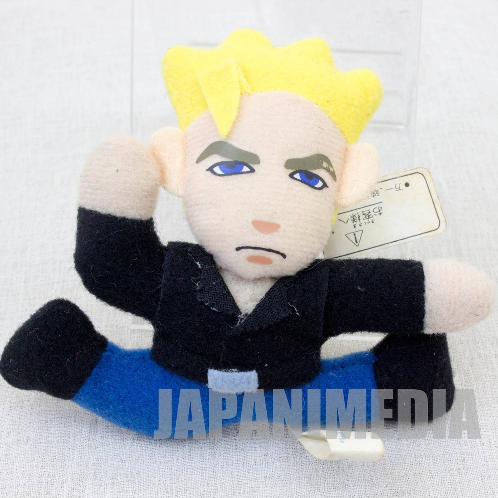 "Virtua Fighter 2 Jacky Bryant 3"" Mini Plush Doll SEGA 1995 JAPAN GAME 2"