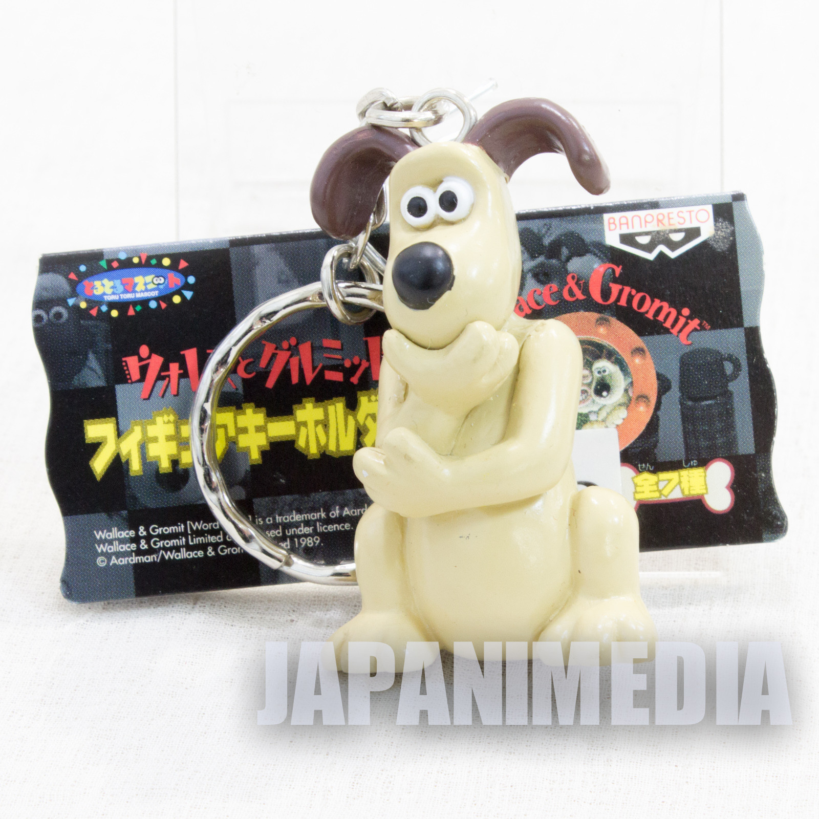 Wallace & Gromit Thinking Gromit Figure Key Chain 2 Banpresto JAPAN Ardman ANIME