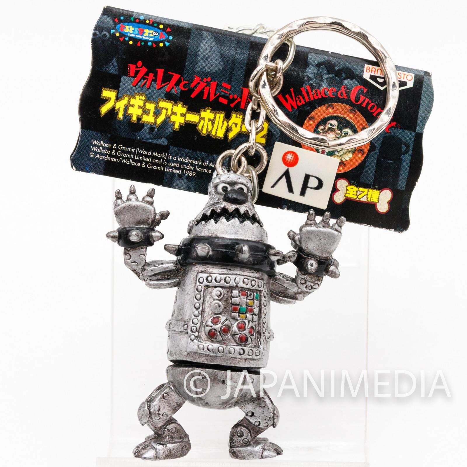 Wallace & Gromit Cyberdog Figure Key Chain 2 Banpresto JAPAN Ardman ANIME