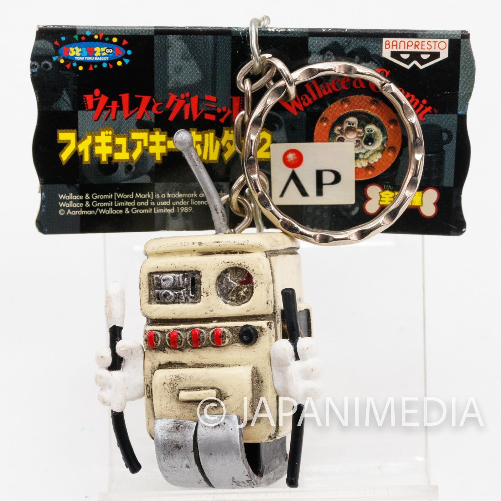 Wallace & Gromit Cooker Robot Figure Key Chain 2 Banpresto JAPAN Ardman ANIME