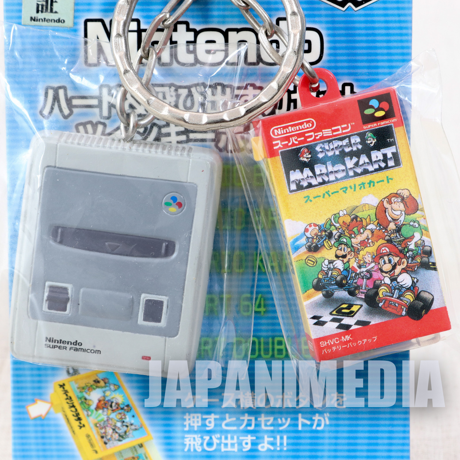 Nintendo Miniature Figure Key Chain Super Famicom & Super Mario Kart SNES JAPAN