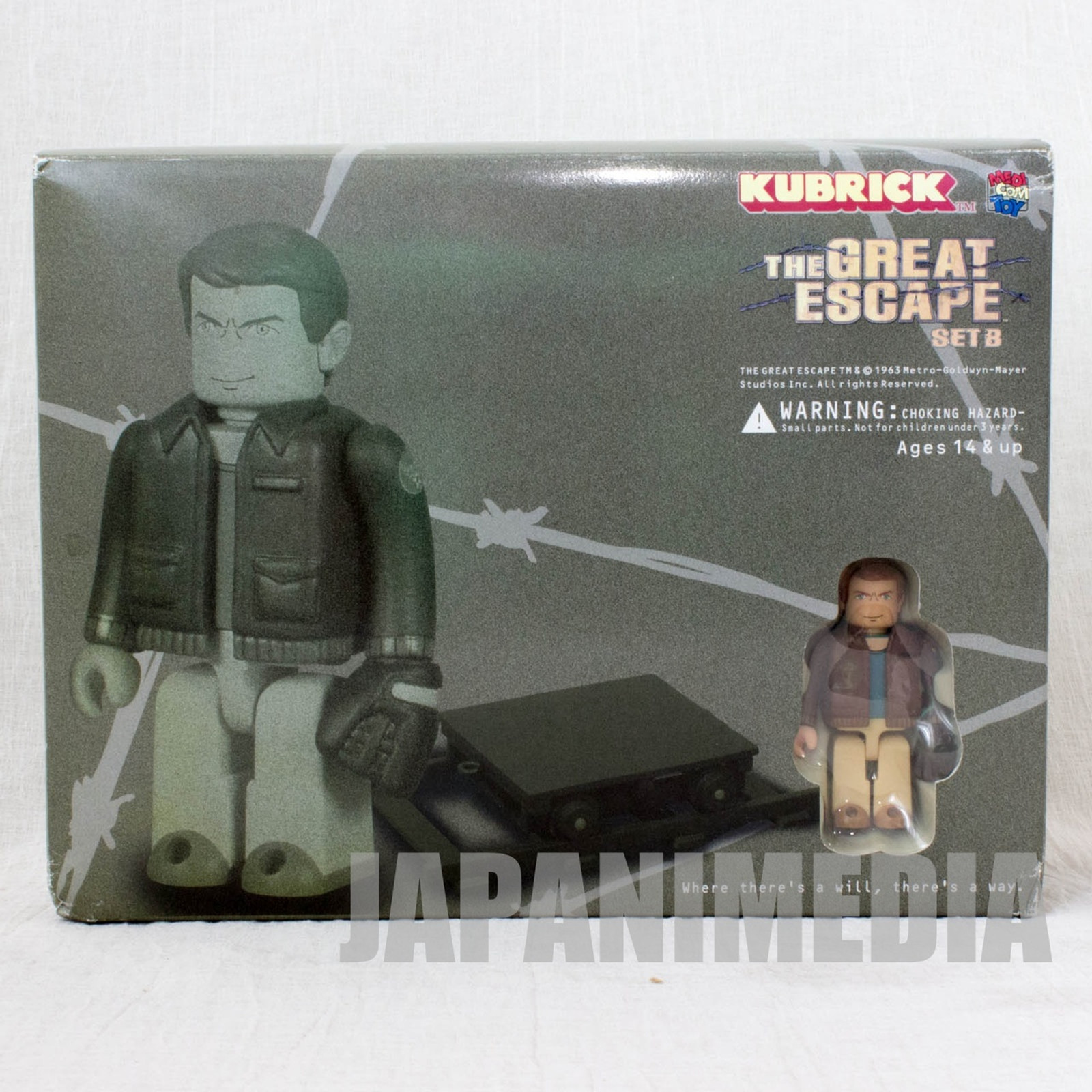 Steve McQueen The Great Escape B Set Kubrick Figure Medicom Toy JAPAN