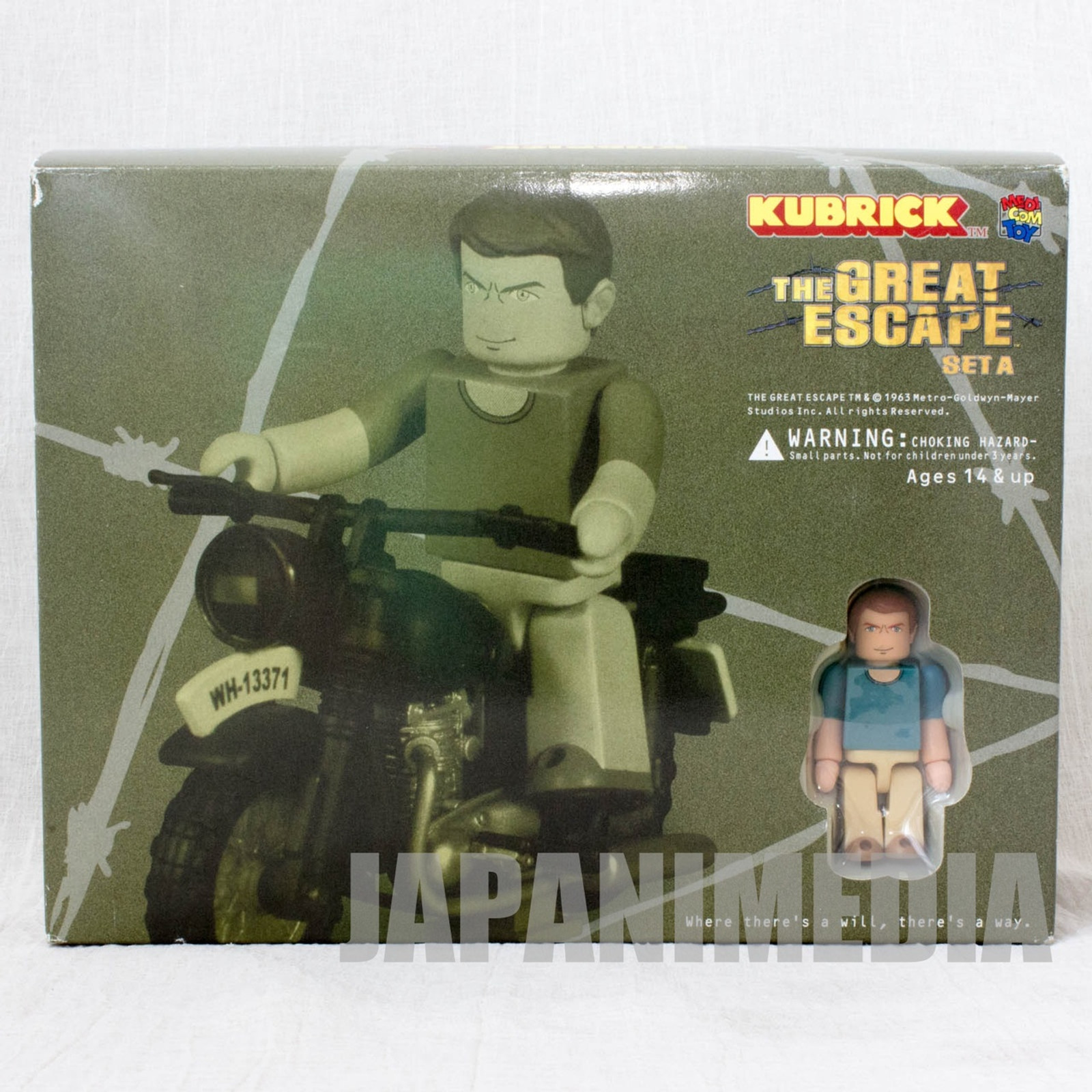 Steve McQueen The Great Escape A Set Kubrick Figure Medicom Toy JAPAN