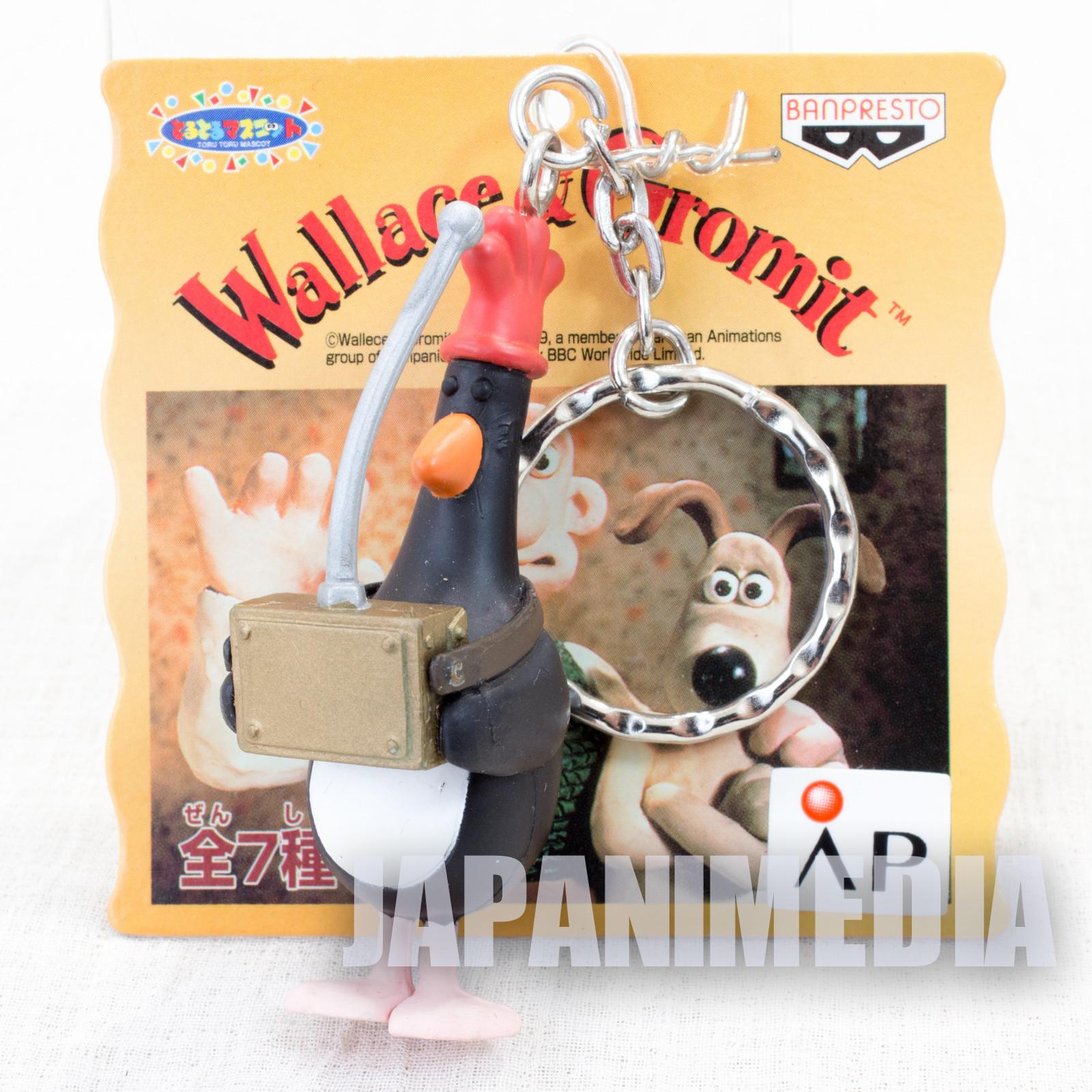 Wallace & Gromit Feathers McGraw Figure Key Chain Banpresto JAPAN Ardman ANIME