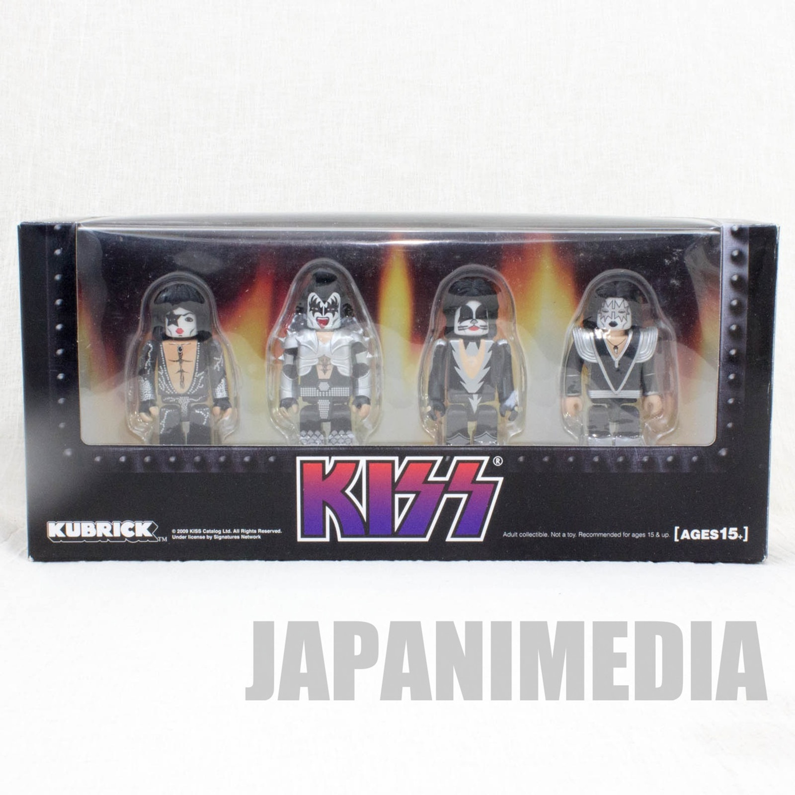 KISS Kubrick 4pc Set Figure Medicom Toy JAPAN ROCK BAND
