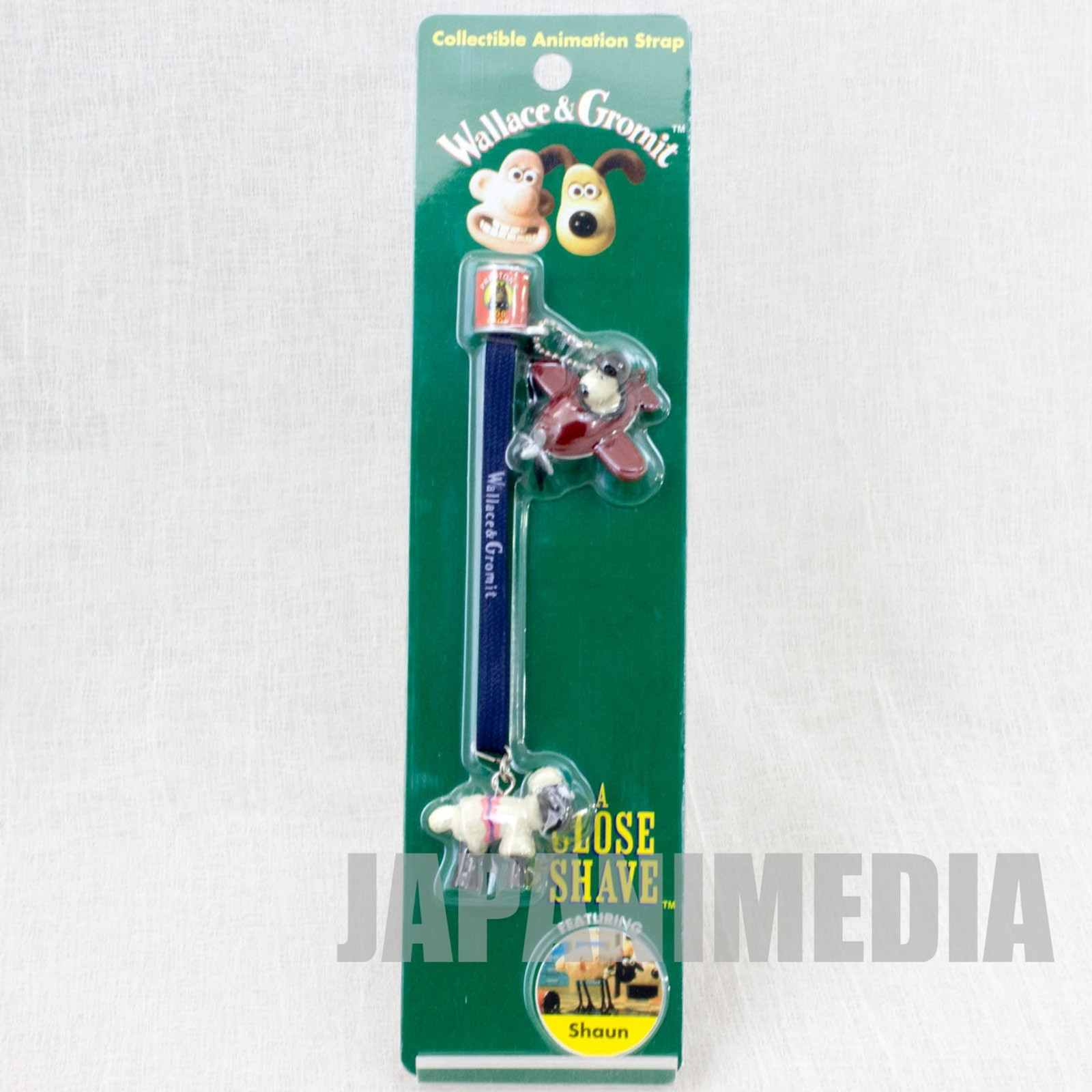 Wallace & Gromit Shaun Figure Collectible Animation Strap JAPAN Ardman ANIME