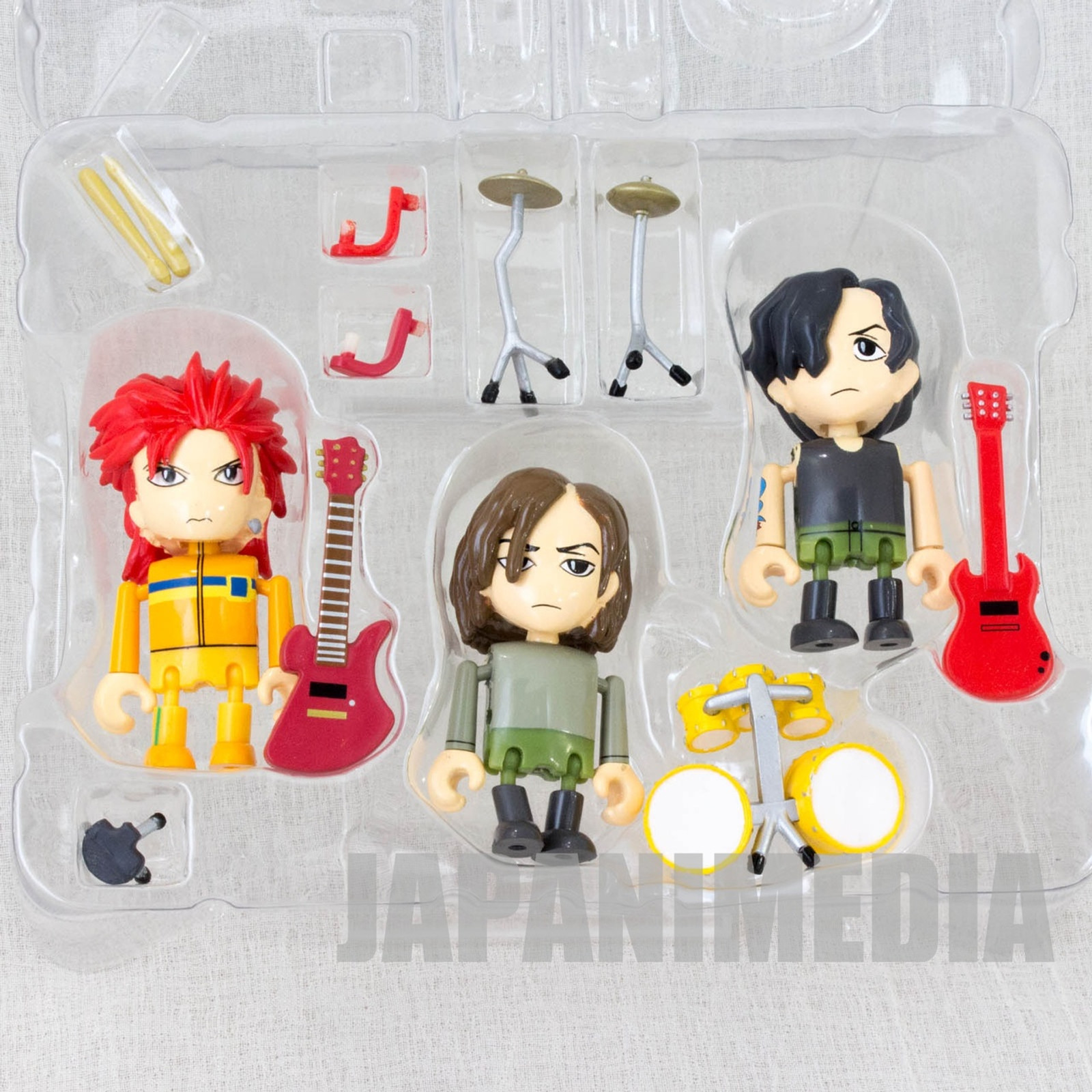 hide with Spread Beaver Mini Figure 3pc Set Play Box 02 J-Rock X-JAPAN