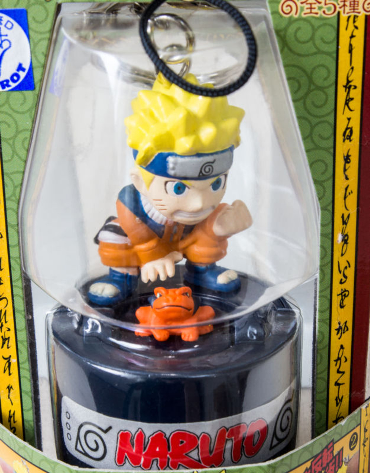 RARE NARUTO Naruto Uzumaki Kuchiyose no Jutsu Stamp Key Chain Holder JAPAN ANIME