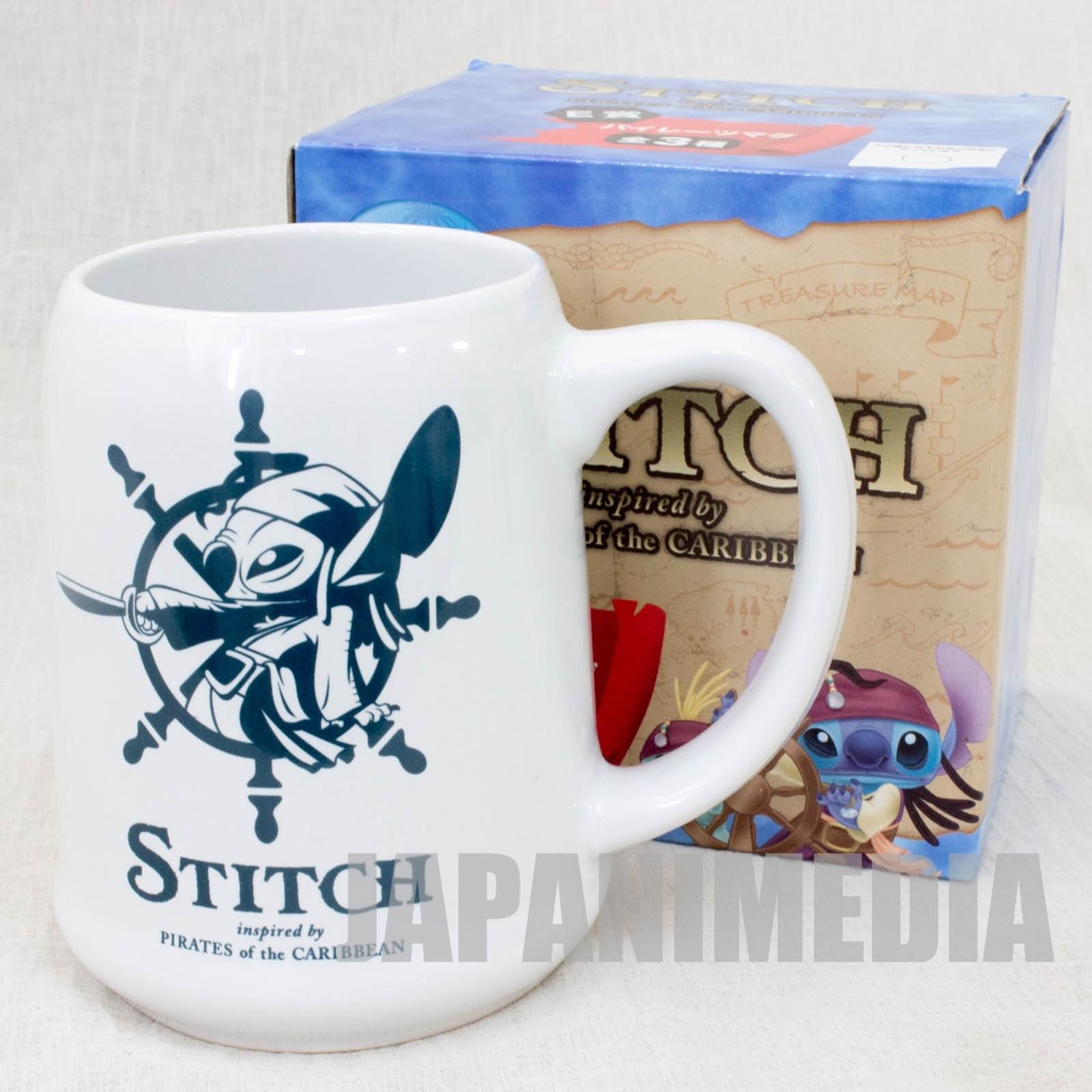 Disney Stitch Pirates of Caribbean Mug White JAPAN ANIME