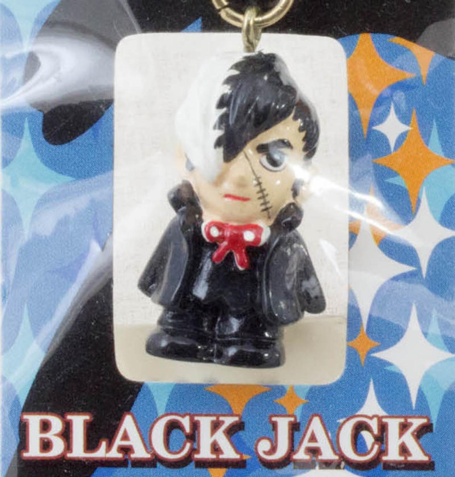 Black Jack Mascot Figure Strap Tezuka Osamu JAPAN ANIME