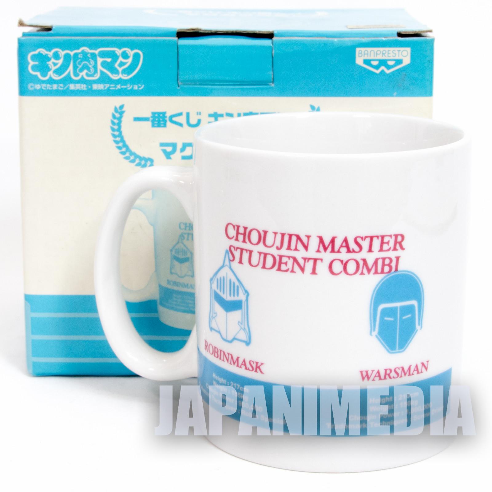Kinnikuman Mug Hell Missionaries Warsman Robinmask JAPAN ANIME MUSCLE MAN