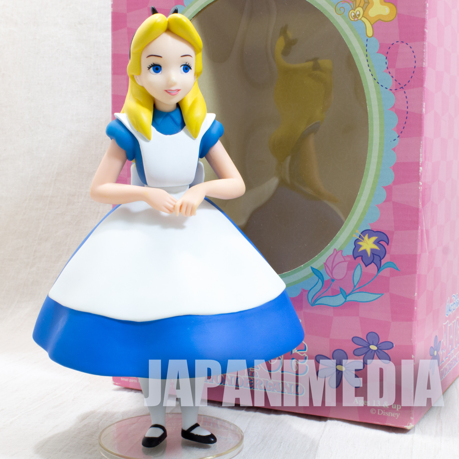 "RARE! Alice in Wonderland VCD Vinyl Collectible Dolls Figure 9"" Medicom Toy JAPAN"