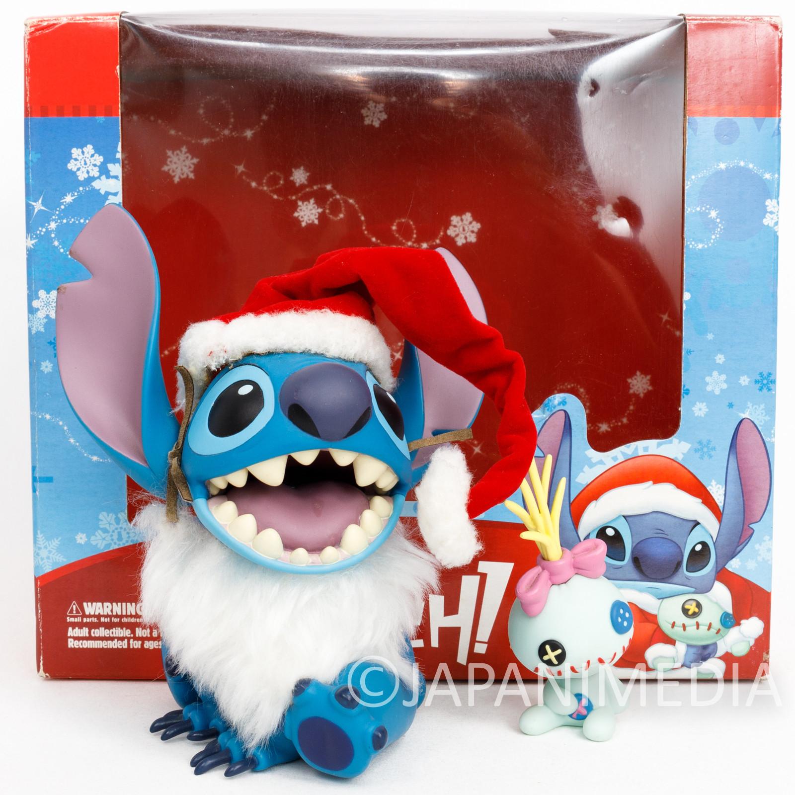 Disney Stitch & Scramp X'mas Santa Ver. VCD Figure Medicom JAPAN