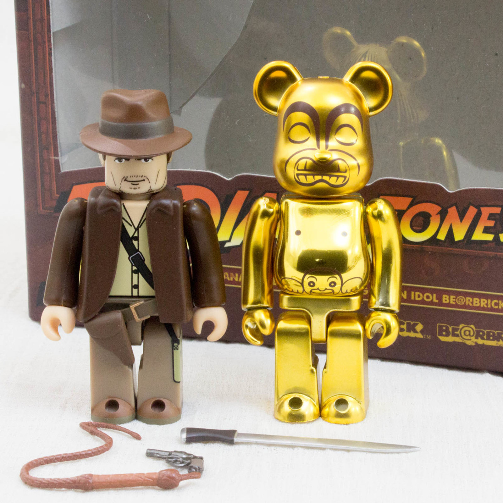 Indiana Jones Golden Idol Be@rbrick Kubrick Set Figure Medicom JAPAN