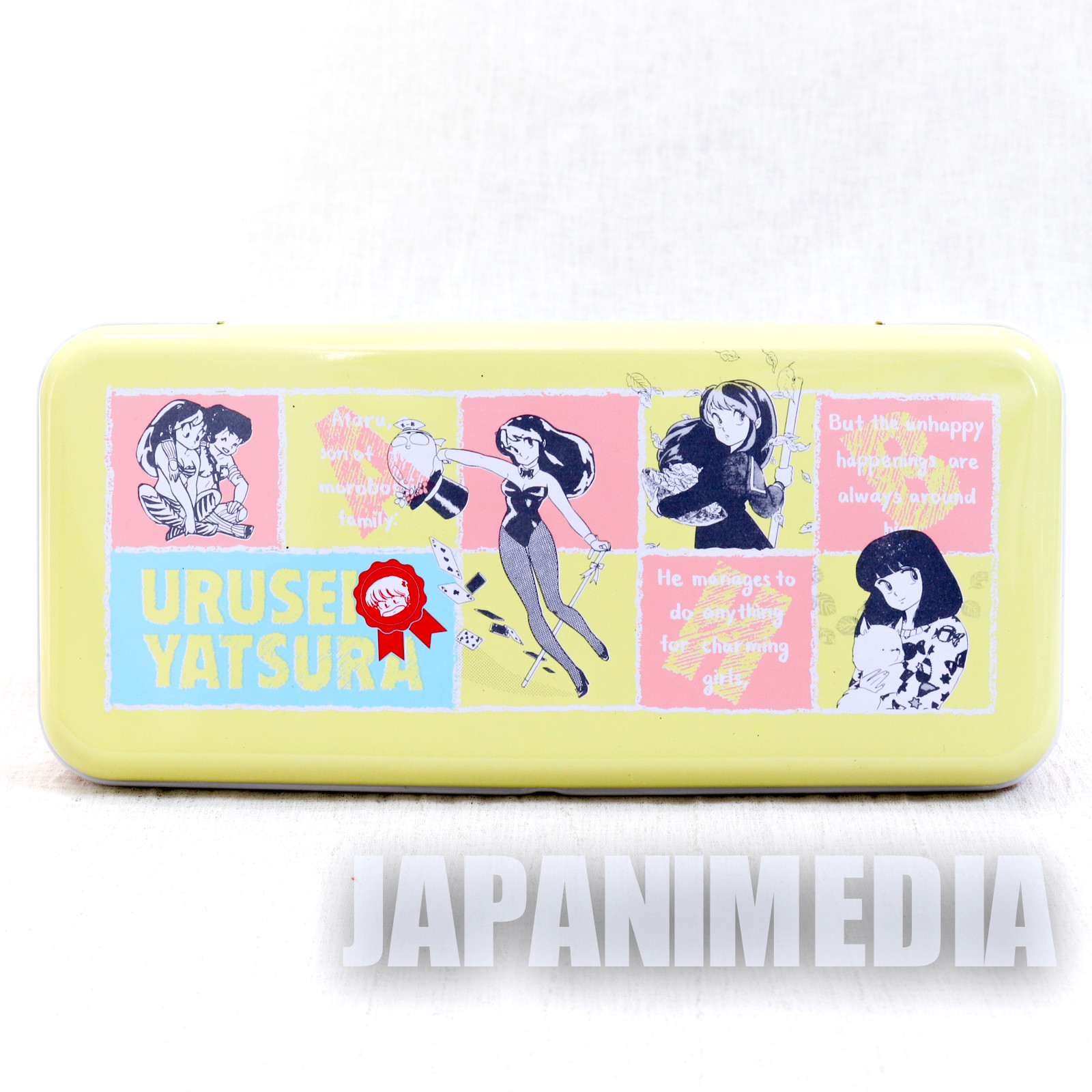 Retro RARE Urusei Yatsura Pen Case LUM JAPAN ANIME MANGA 6