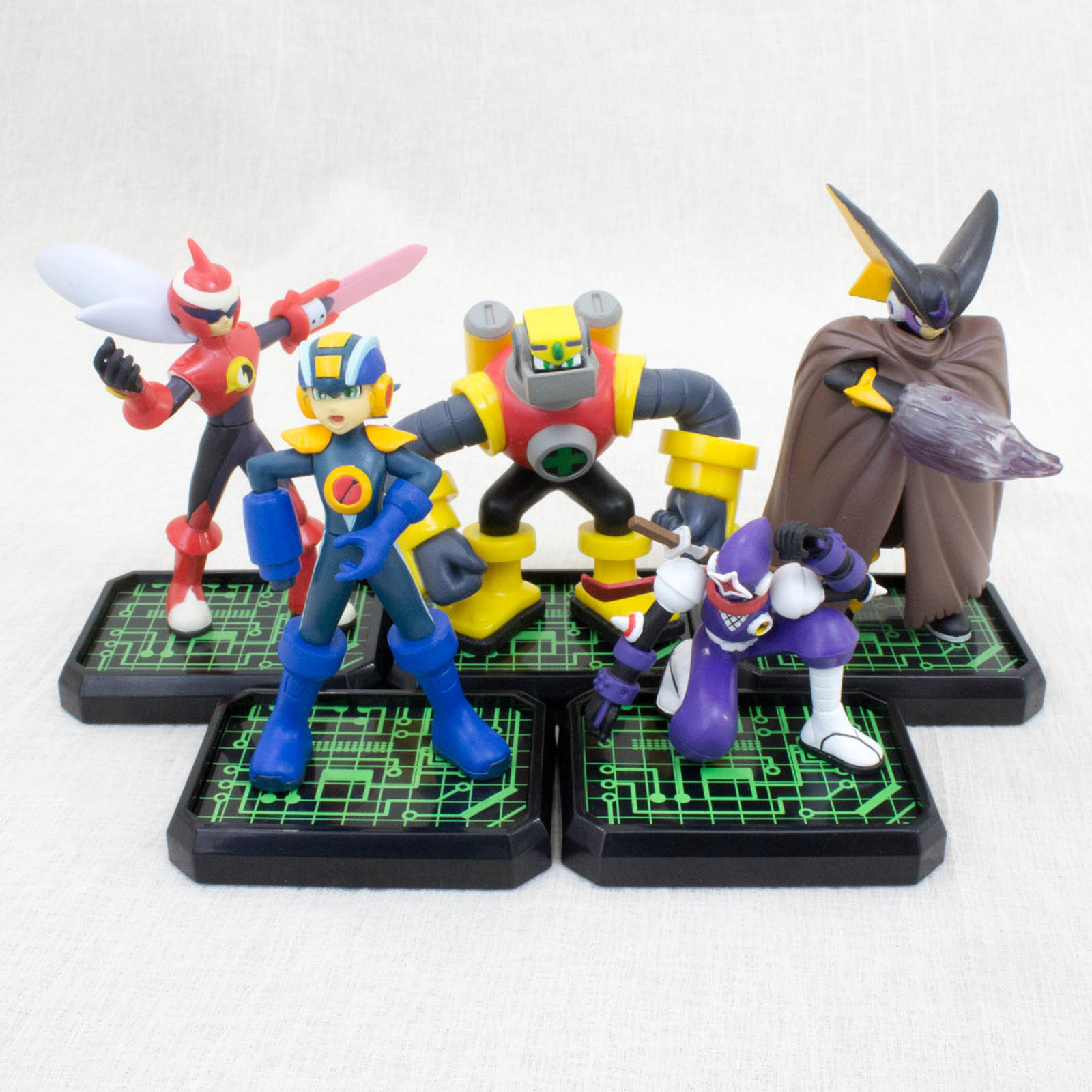 Rockman Exe Mega man Rockin' Box Figure Set BANDAI JAPAN GAME NES