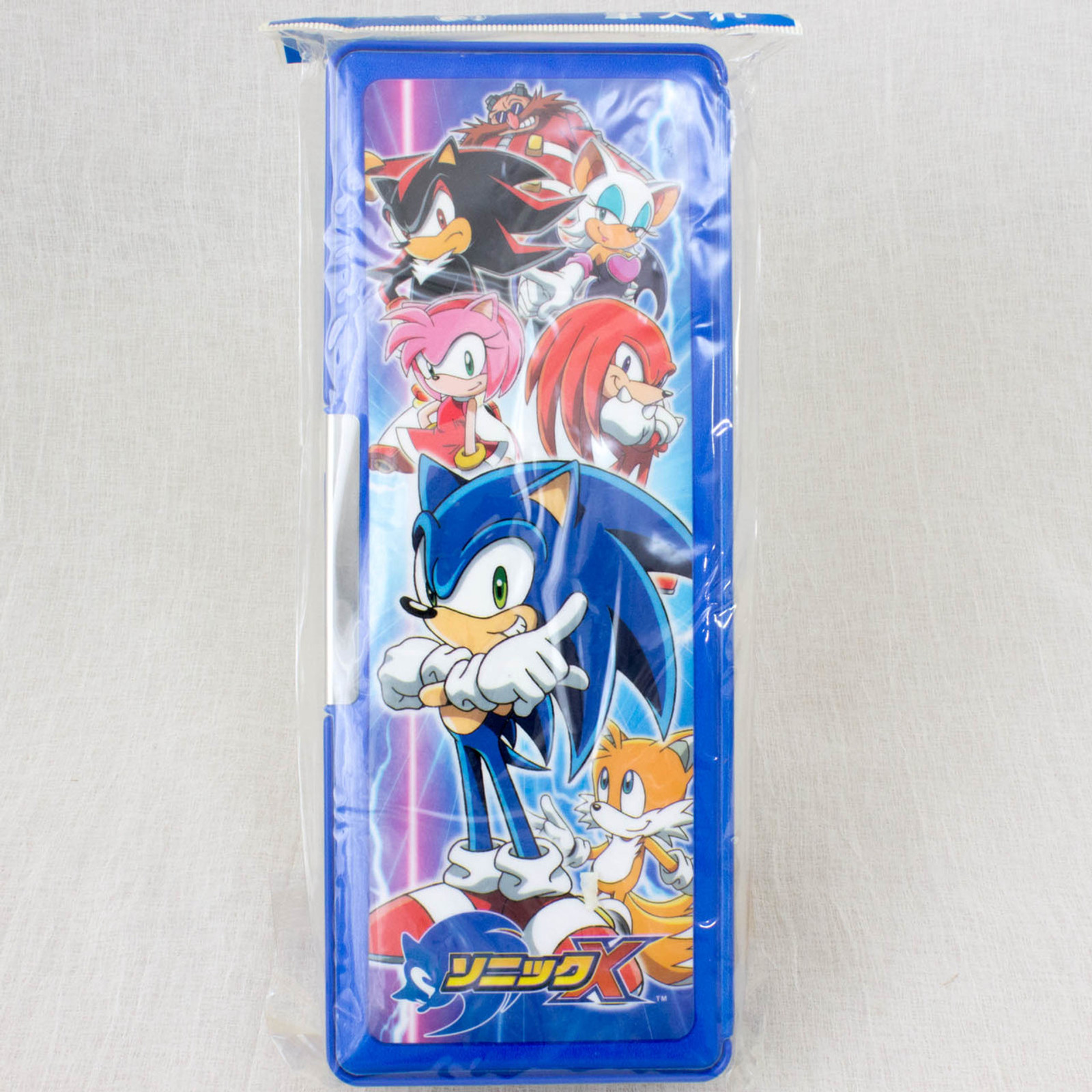 Sonic X The Hedgehog Pen Case Showa Note JAPAN GAME