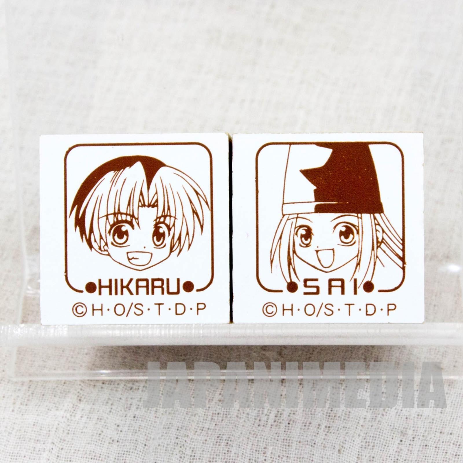 Hikaru no Go Hikaru Shindo & Sai Fujiwara Mini Stamp Set JAPAN