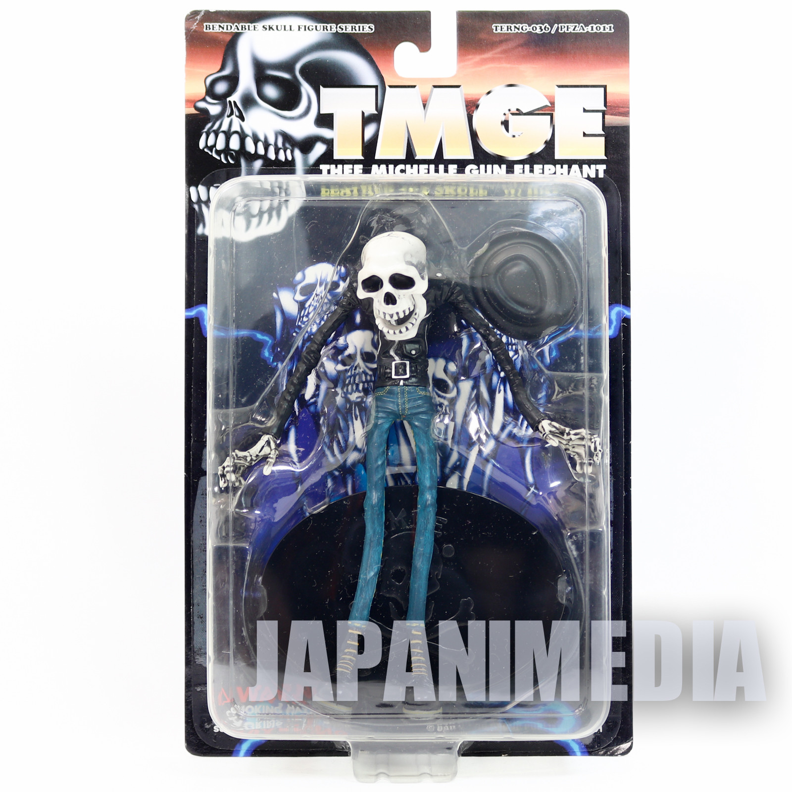 Thee Michelle Gun Elephant Leather Jkt Skull Bendable Figure Medicom Toy JAPAN