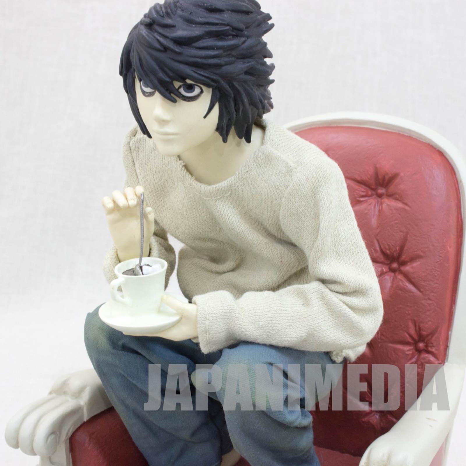 RARE! Death Note L Ryuzaki Polyresin Figure Craft Label Jun Planning JAPAN ANIME