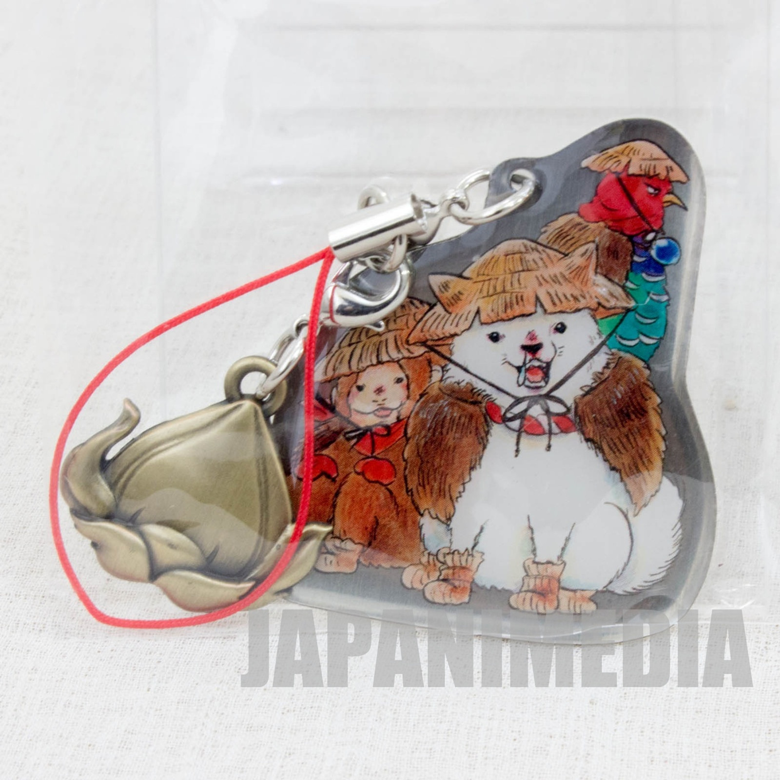 Hozuki no Reitetsu Shiro Dog Metal Plate Mascot Strap JAPAN ANIME MANGA