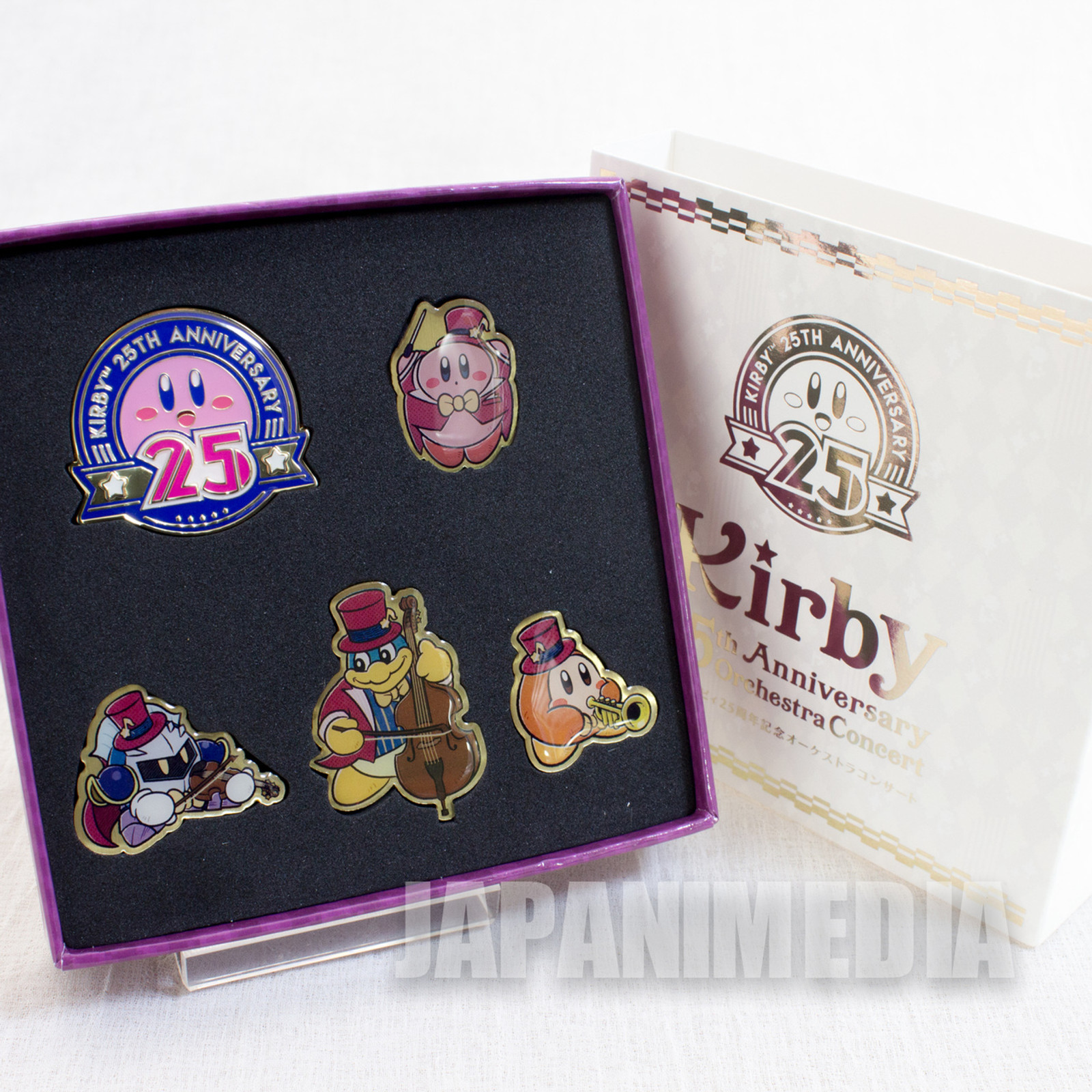 Kirby Super Star 25th PINS 5pc Set Waddle Kirby/Dee King/Dedede/Meta Knight JAPAN GAME