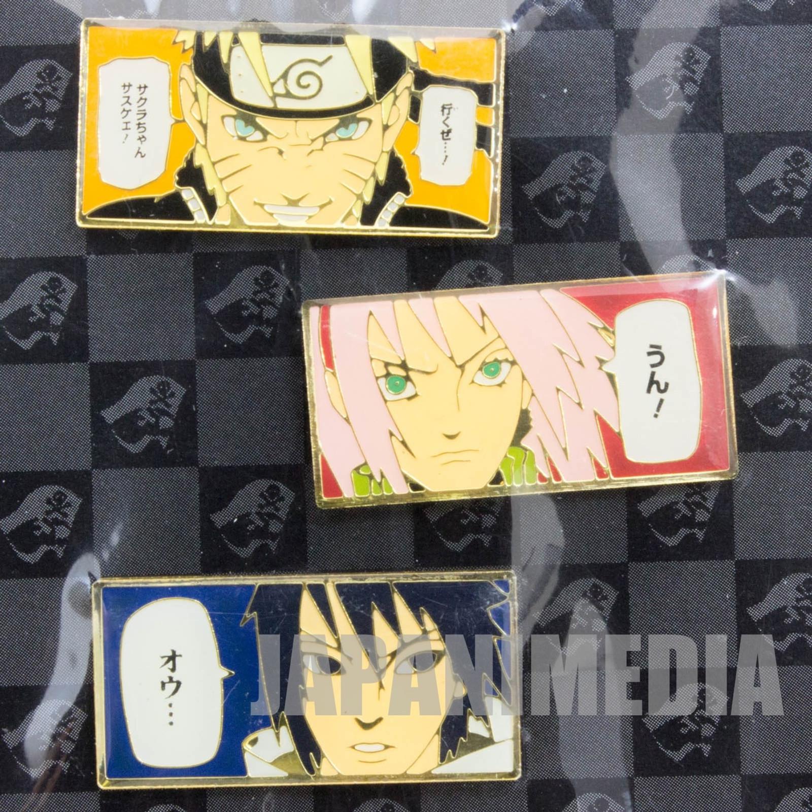 NARUTO Shippuden Character Pins Collection Sasuke Sakura JAPAN ANIME MANGA