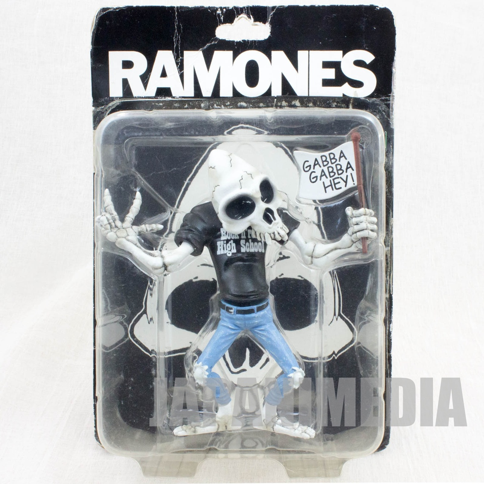 RARE! RAMONES Skeleton Figure Bonebad JAPAN PUNK ROCK