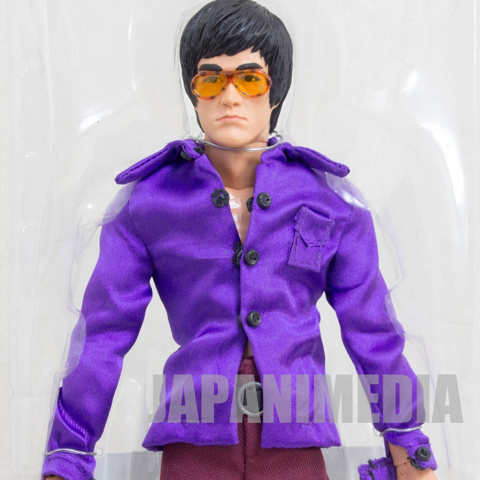BRUCE LEE 1/6 Fashion Show Figure Purple Shirt Medicom Toy JAPAN KUNG FU MOVIE