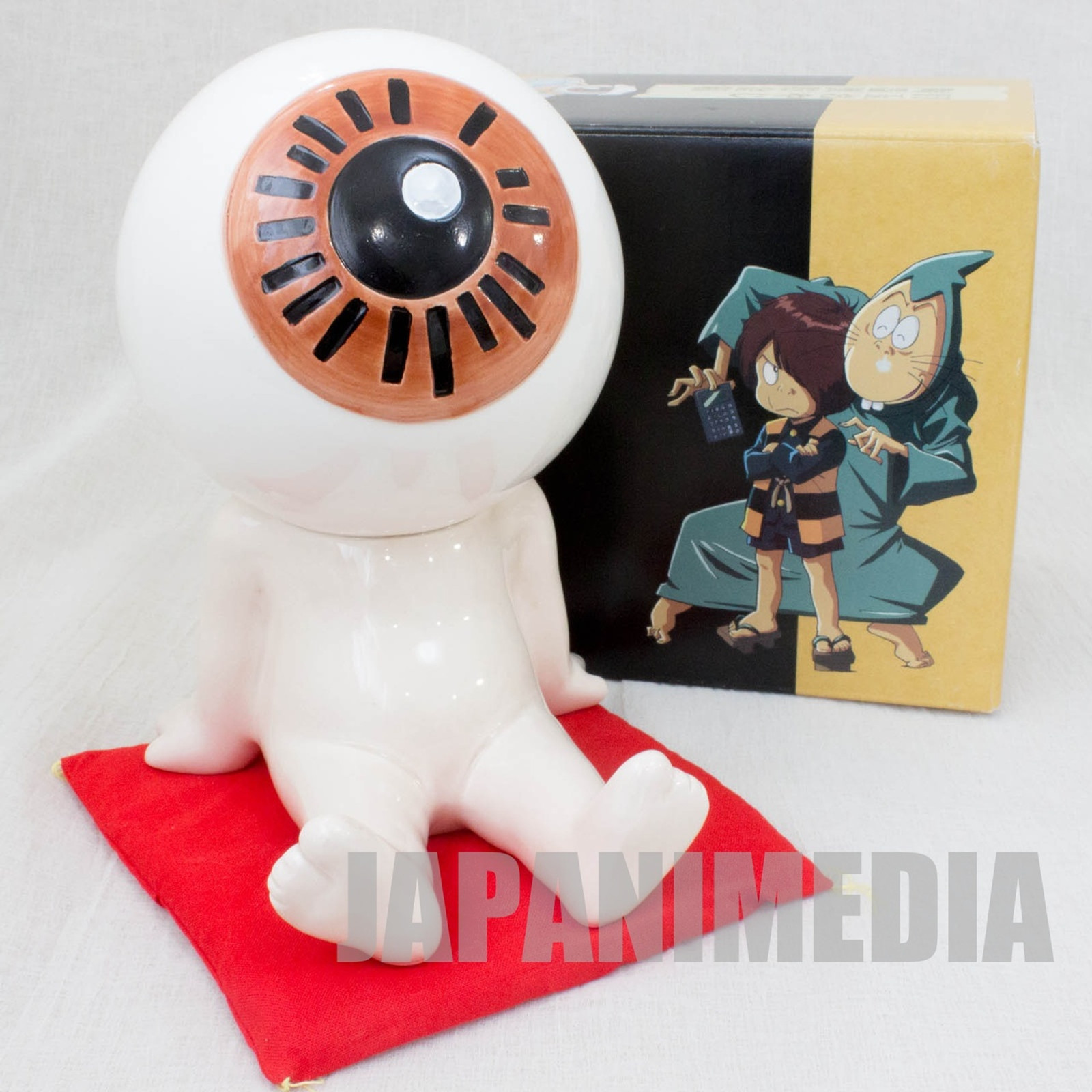 GeGeGe no Kitaro Medama Oyaji Pottery Figure Coin Bank JAPAN