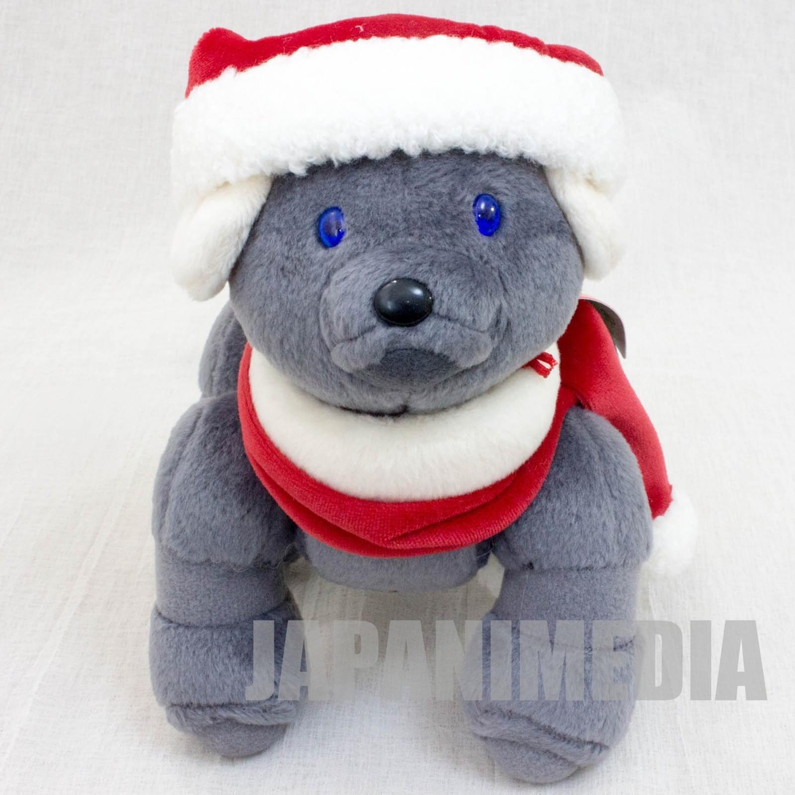 "AIBO Gray 7"" Chirstmas Santa Ver. Plush Doll Figure Official Goods JAPAN SONY"
