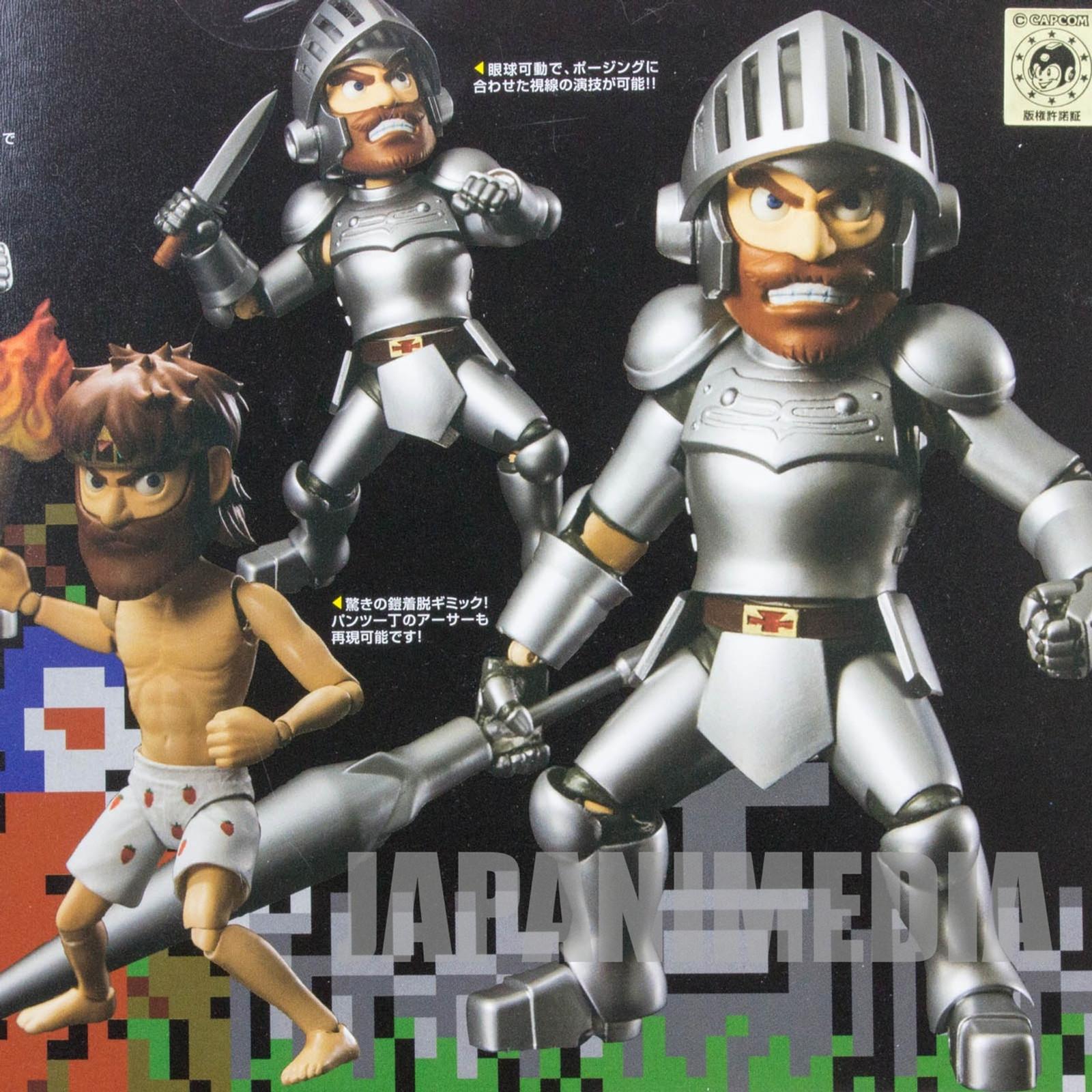 Ghosts'n Goblins Arthur Silver Armor Figure Capcom Makaimura JAPAN GAME FAMICOM