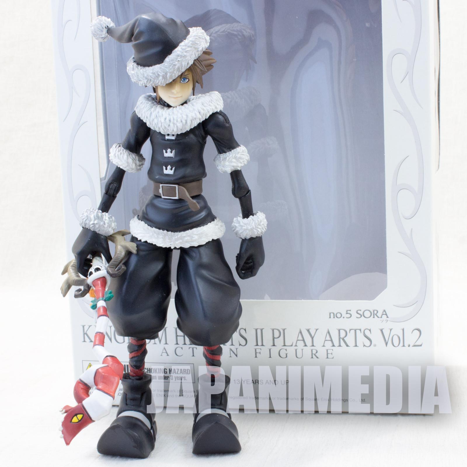 Kingdom Hearts 2 SORA Play Arts vol.2 Action Figure Christmas Town ver Square Enix JAPAN