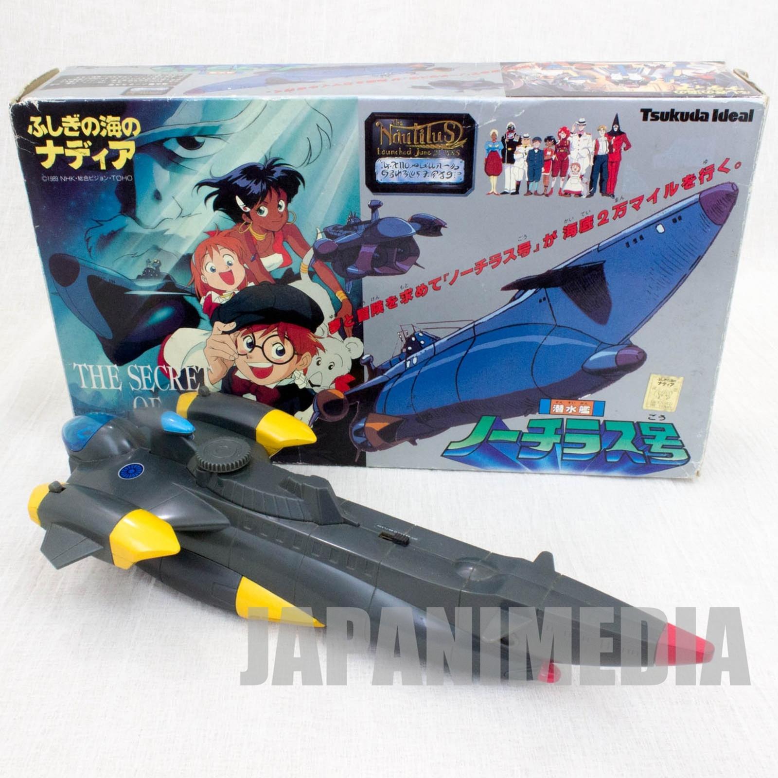Nadia The Secret of Blue Water Submarine Nautilus Figure Toy Tsukuda Ideal JAPAN