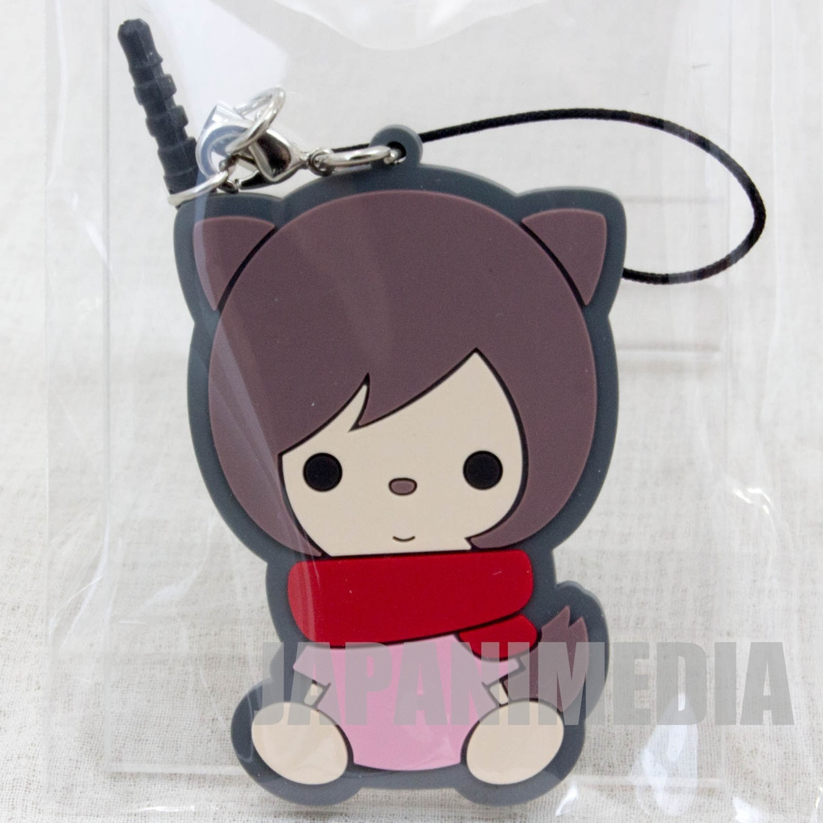 Wolf Children Ame&Yuki YUKI Mascot Rubber Strap JAPAN Ookami Kodomo JAPAN ANIME