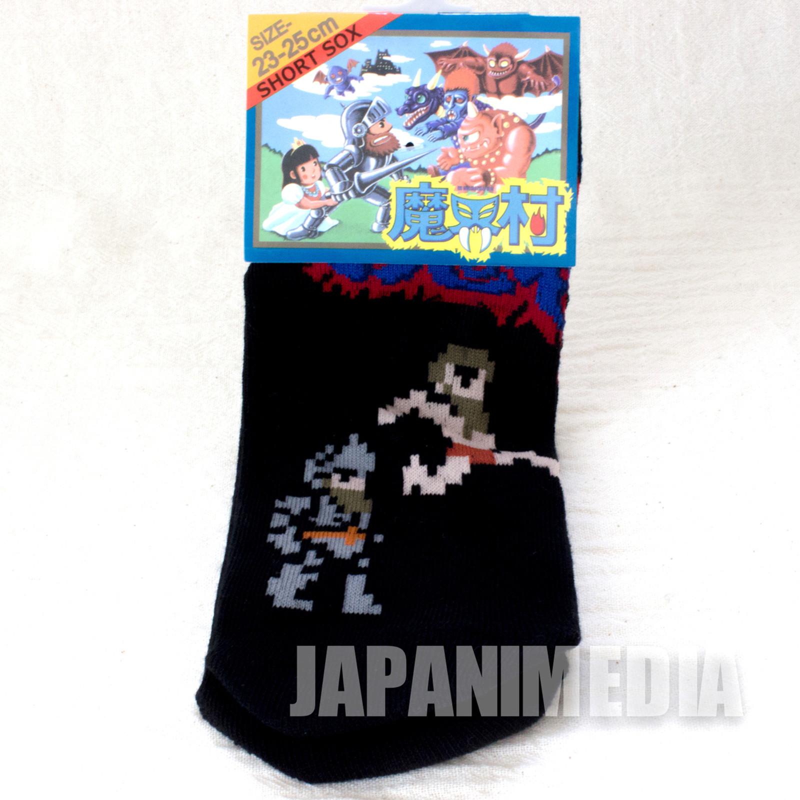 Ghouls'n Ghosts a Pair of Socks Size 23-25cm Capcom Makaimura JAPAN FAMICOM 4