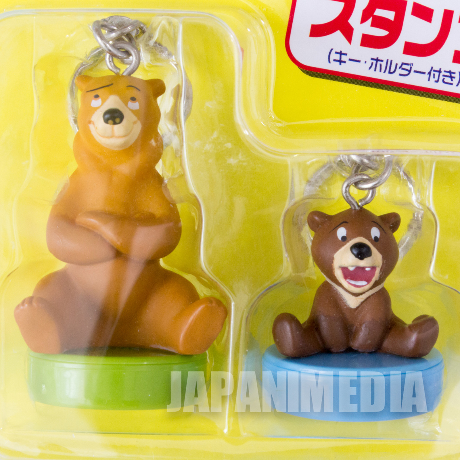 Disney Brother Bear Kodai Kenai Figure Stamp Keychain JAPAN ANIME