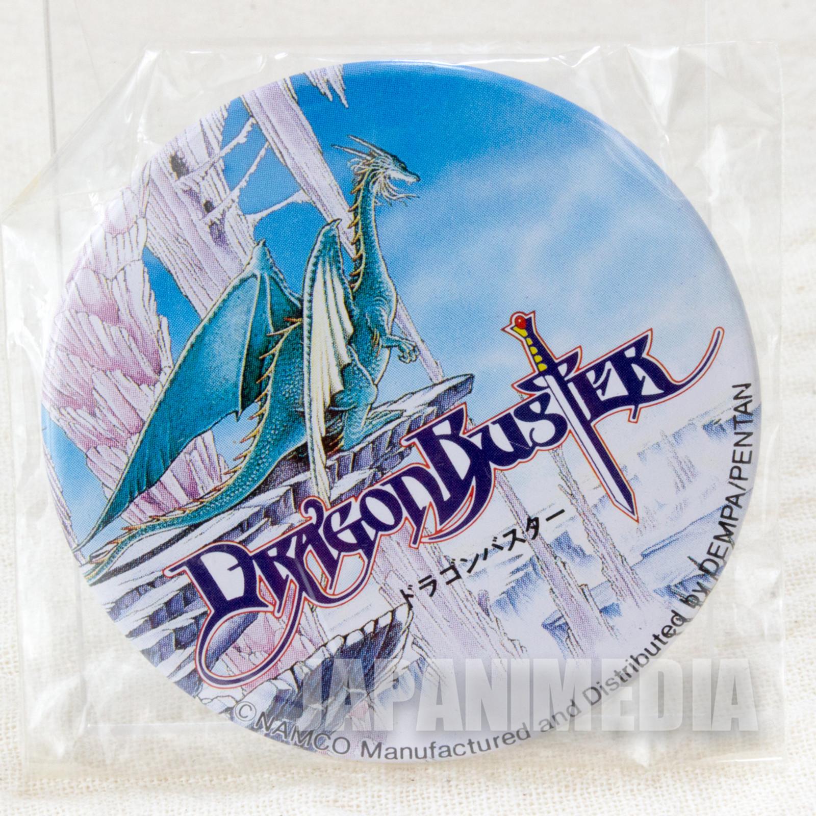 Retro RARE Dragon Buster Button Badge Namco JAPAN FAMICOM NINTNEDO