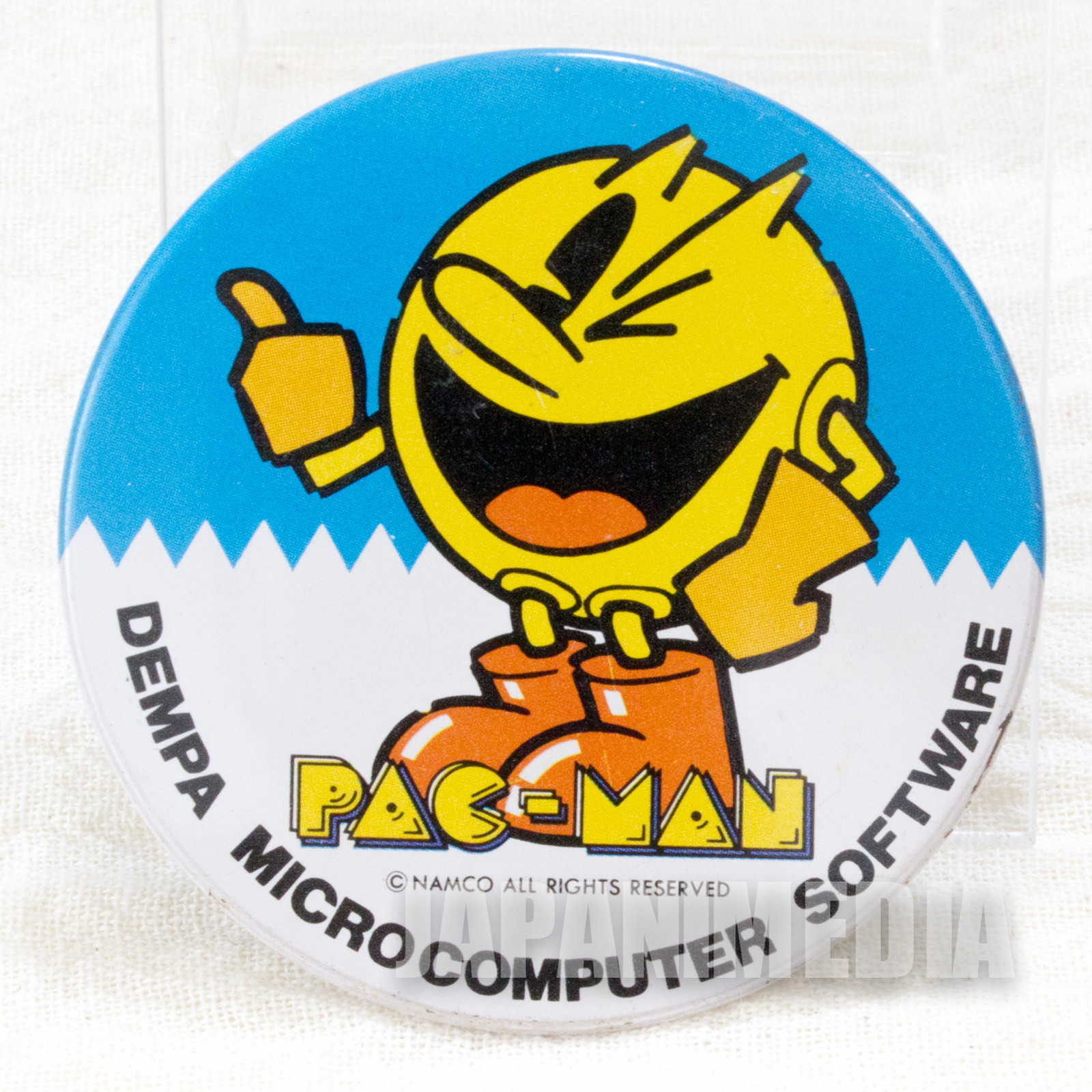 Retro RARE Pac-Man Button Badge Namco JAPAN FAMICOM NINTNEDO