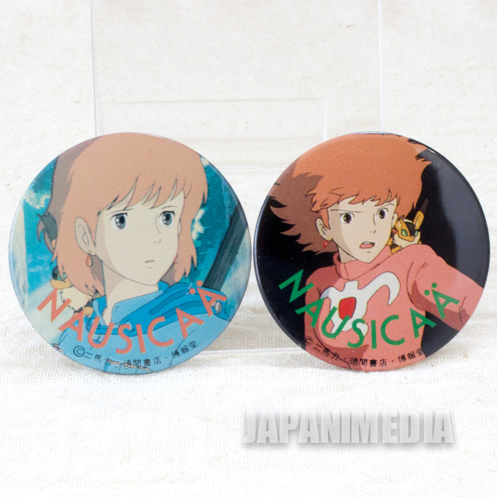 Nausicaa of the Valley of the Wind Button Badge Ghibli JAPAN ANIME