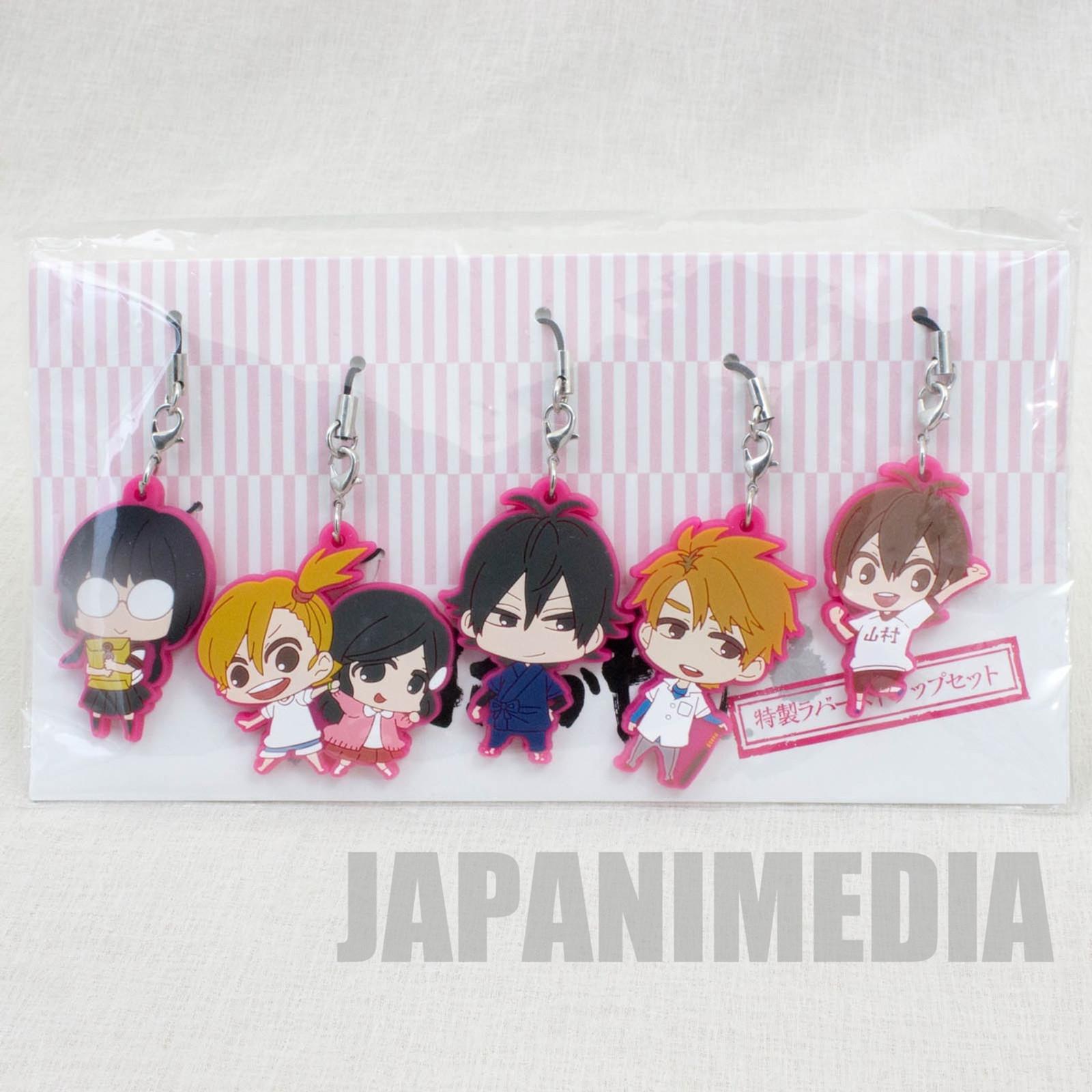 Barakamon Mascot Rubber Strap 5pc Set [Handa | Naru & Hina | Miwa | Tamako | Hiroshi] Square Enix JAPAN ANIME MANGA