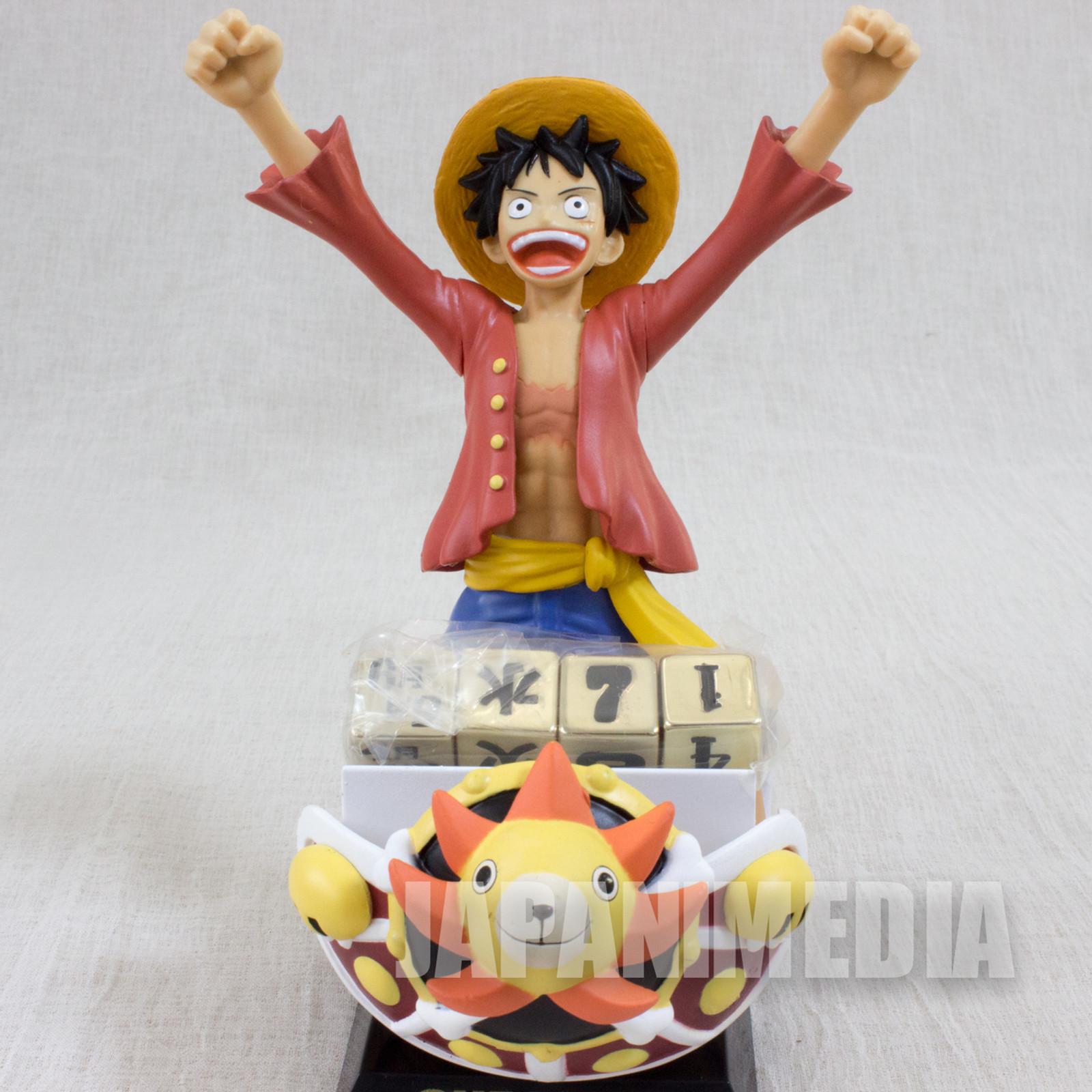 RARE! One Piece Luffy Figure Perpetual Calendar Shueisha JAPAN ANIME