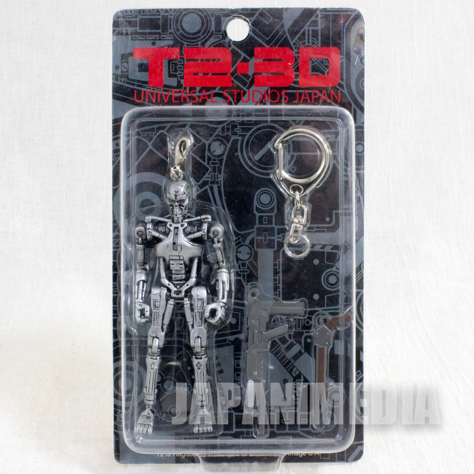 T2-3D Terminator USJ Universal Stuidos Japan Movie Figure Keychain Set JAPAN