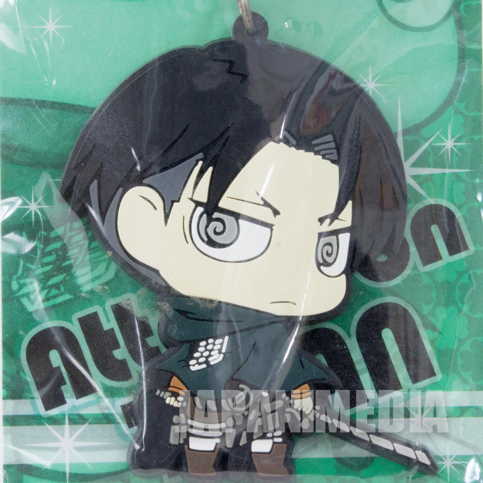 Attack on Titan Levi Ackerman Mascot Rubber Strap JAPAN ANIME MANGA