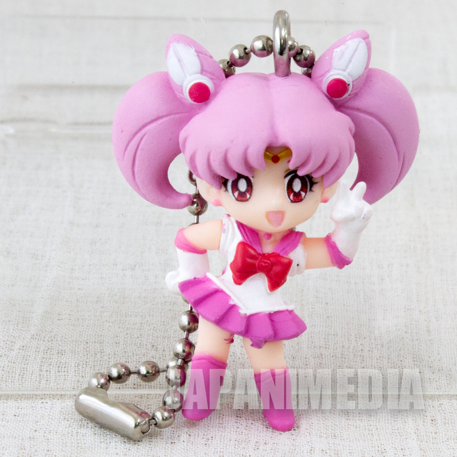 Sailor Moon Sailor Chibi Moon (Chibiusa) Sailor Swing 3 Figure Keychain JAPAN ANIME MANGA