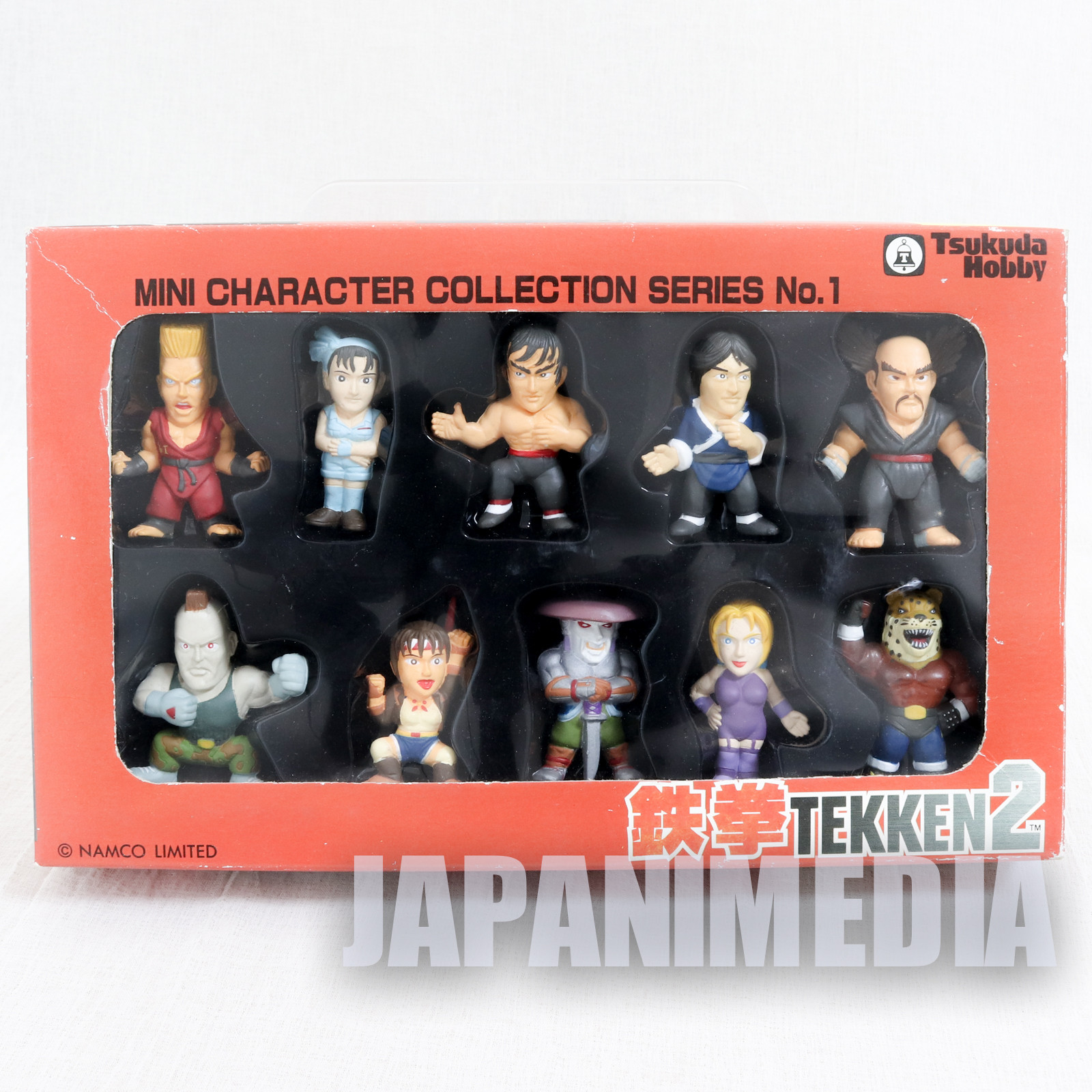 RARE! Tekken 2 Mini Figure 10pc Set Character Collection Tsukuda Hobby JAPAN