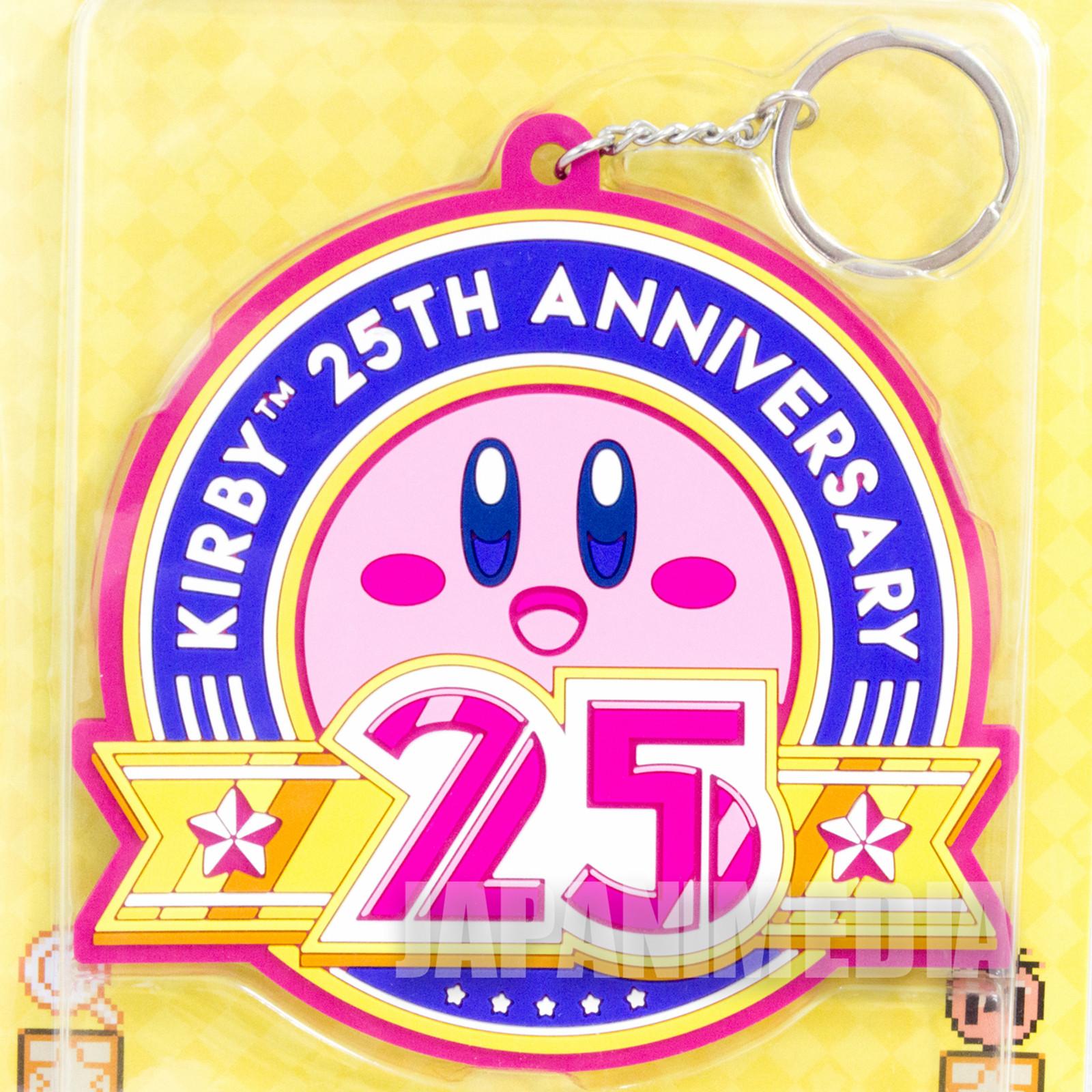 Kirby Super Star 25th Ver. Big Rubber Mascot Key Chain Banpresto JAPAN GAME
