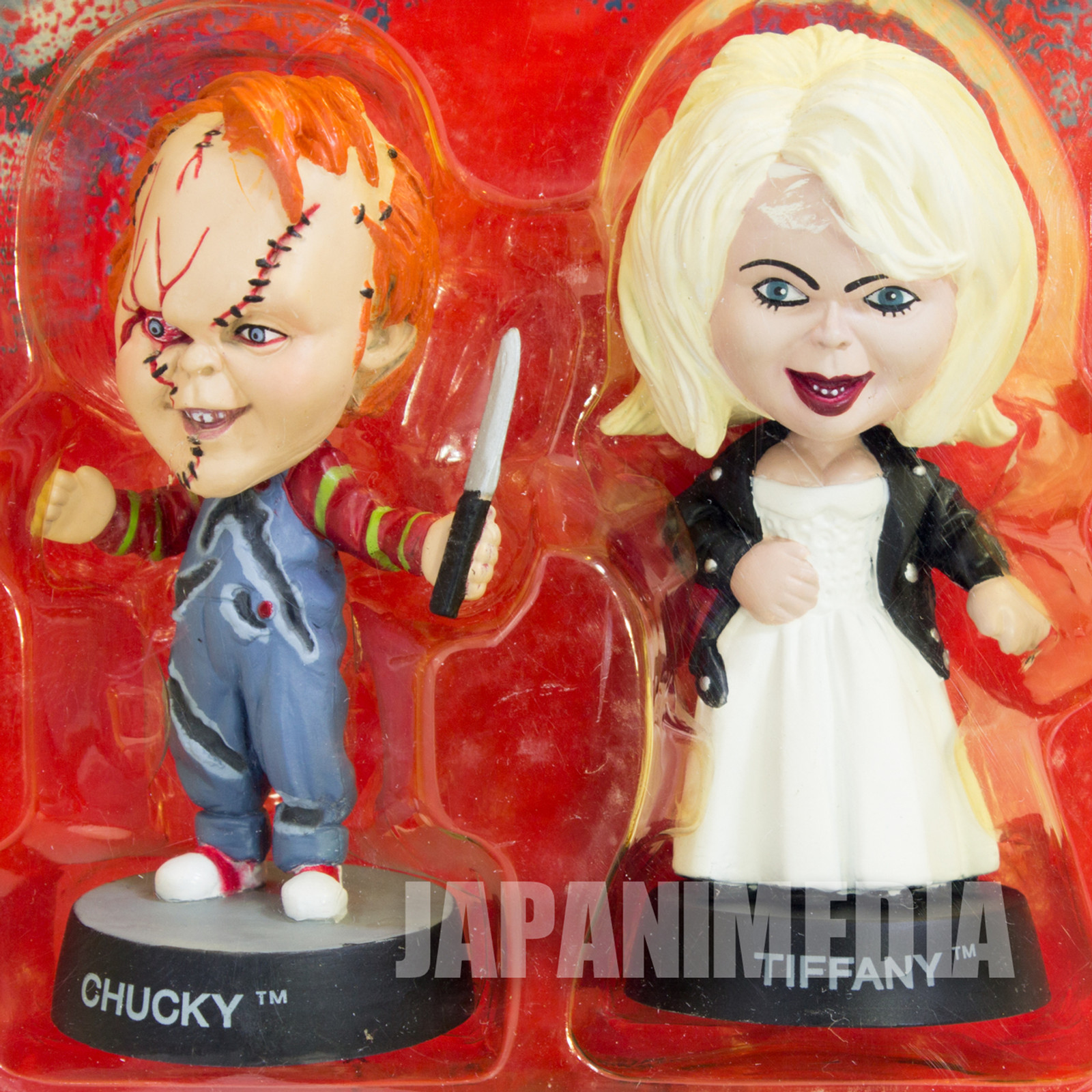Bride of Chucky Tiiffany Little Big Head Figure 2pc set Sideshow Toy / Child's Play